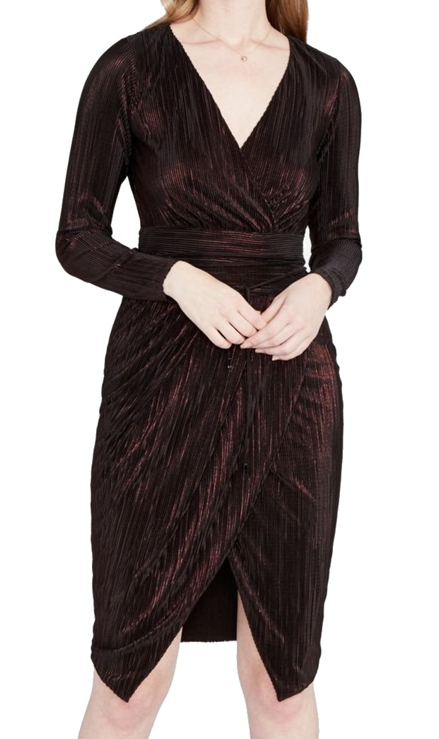 37a558bc8729c0 Details about Rachel Rachel Roy NEW Red Women s Size Medium M Metallic  Sheath Dress  149  199
