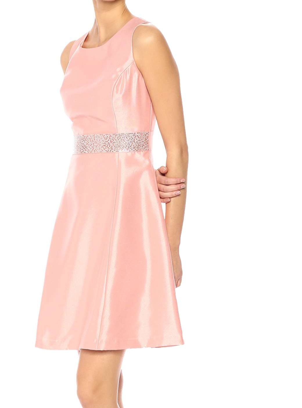 76801a14cc1d9 Details about Nine West NEW Pink Women s Size 6 Embellished Waist A-Line  Dress  89-  119