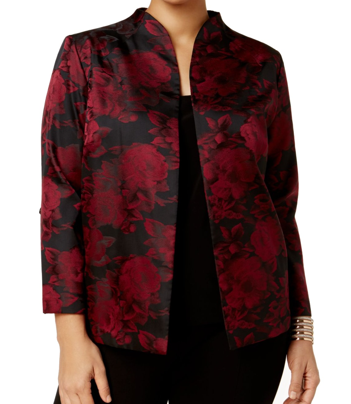 40044c974c6 Alex Evenings NEW Red Women s Size 2X Plus Floral Printed Jacket  159-  460