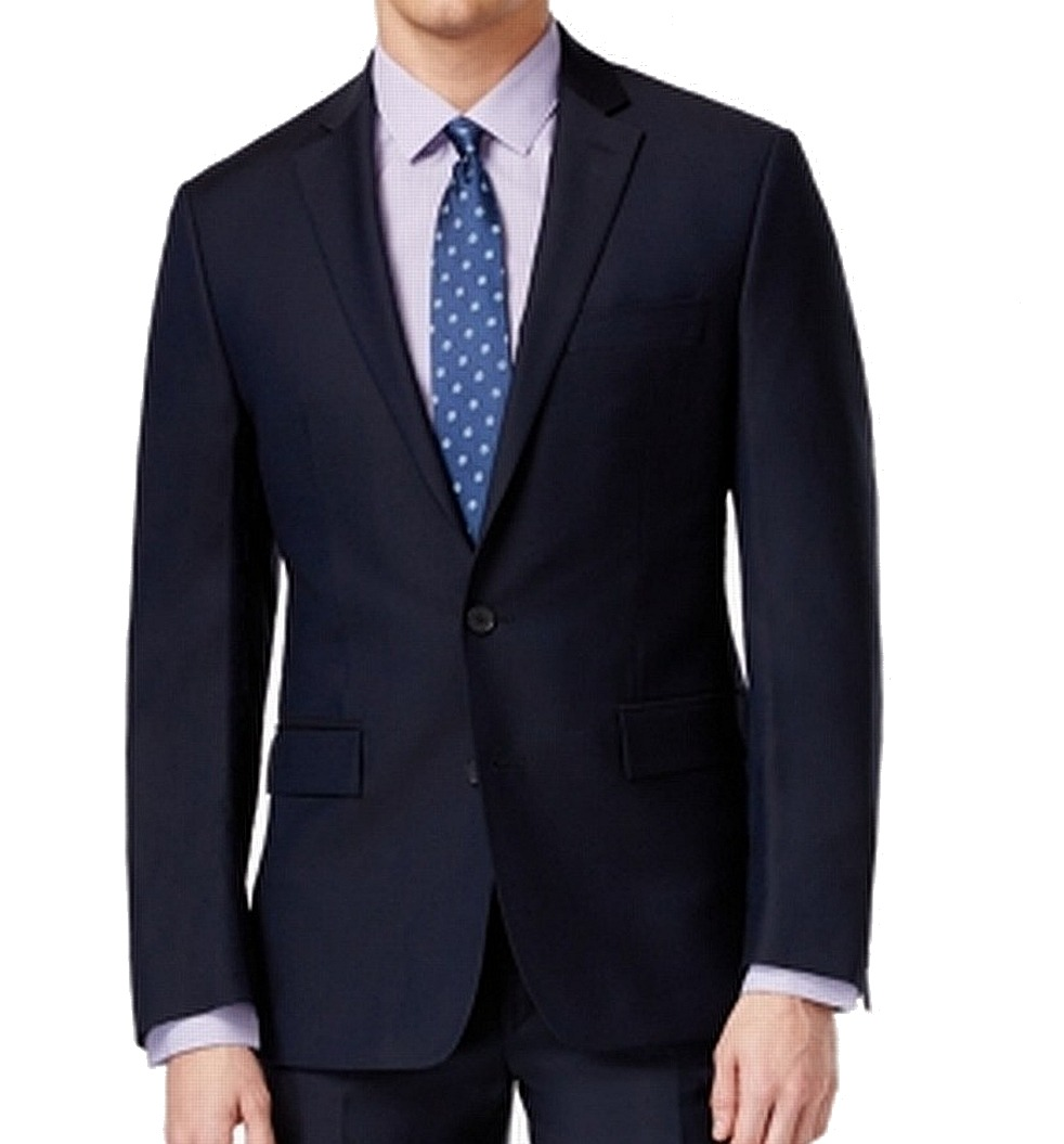 Ryan Seacrest NEW Blau  Herren USA 38 Modern Fit Two Button Wool Blazer 425  108