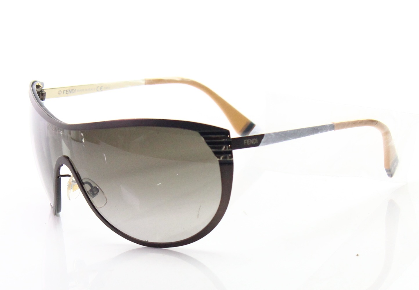 33d0e4ae413 Details about Fendi NEW Brown Gradient FF0057S MWTHA Women s Shield  Sunglasses  239  141