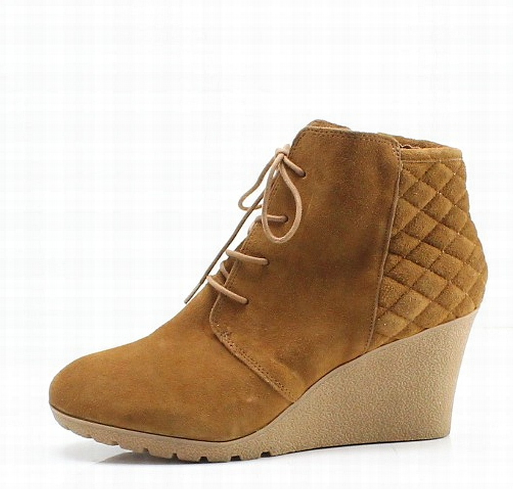 f40bebe0572 MIA NEW Brown Quilted Leather Debra Women s Size 12M Ankle Boots  69-  140