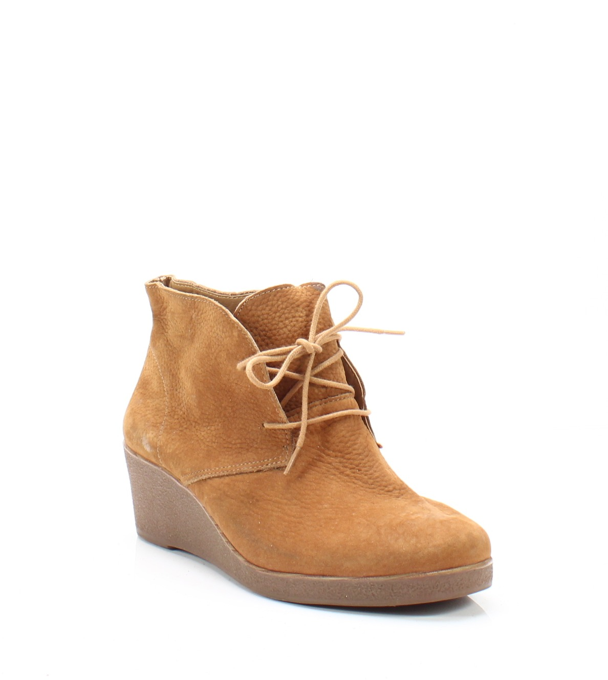 2954cfb2396 Lucky Brand NEW Beige Women s Size 9.5M Junes Wedge Leather Boots  119-  353