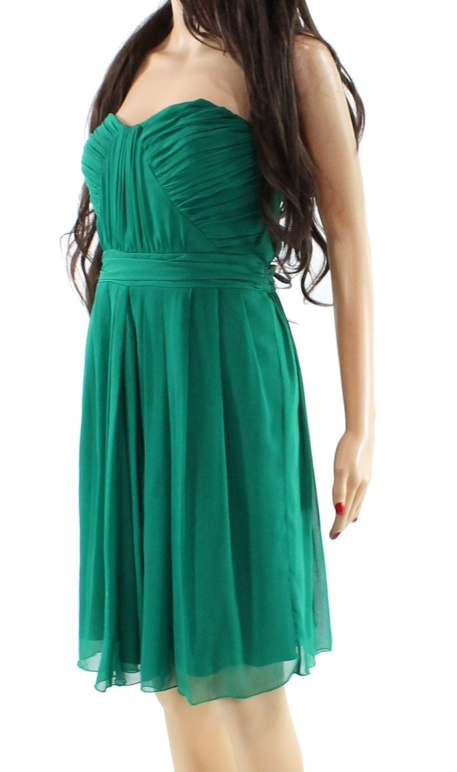 317d414a51f90 Badgley Mischka Green Women's Size 14 Pleated Empire Waist Dress ...
