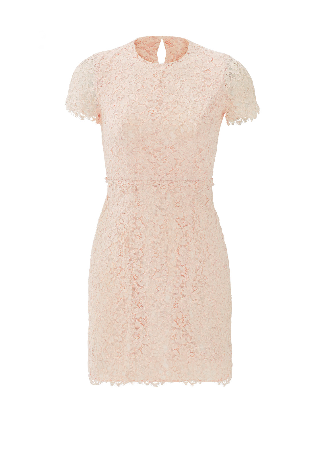 f4db9550 Details about Shoshanna Pink Women's Size 12 Crewneck Floral Lace Sheath  Dress $385- #632