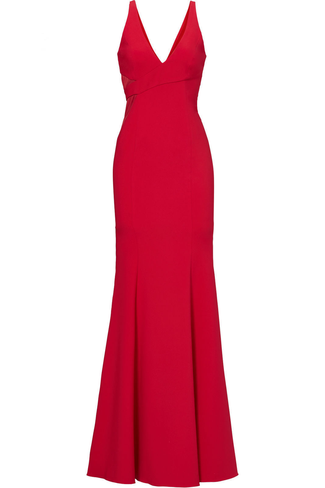 37726be8332 Details about Jay Godfrey Red Women s Size 6 V-Neck Mermaid Mesh Gown Dress   485-  151