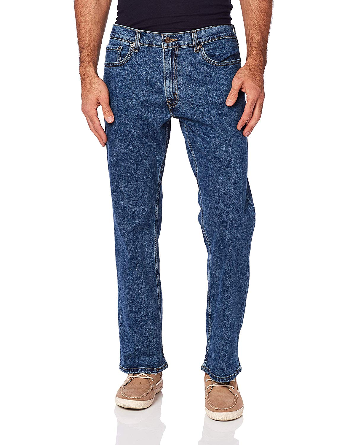 Signature-By-Levi-Strauss-amp-Co-Gold-Label-Indigo-Mens-Relaxed-Flex-Jeans