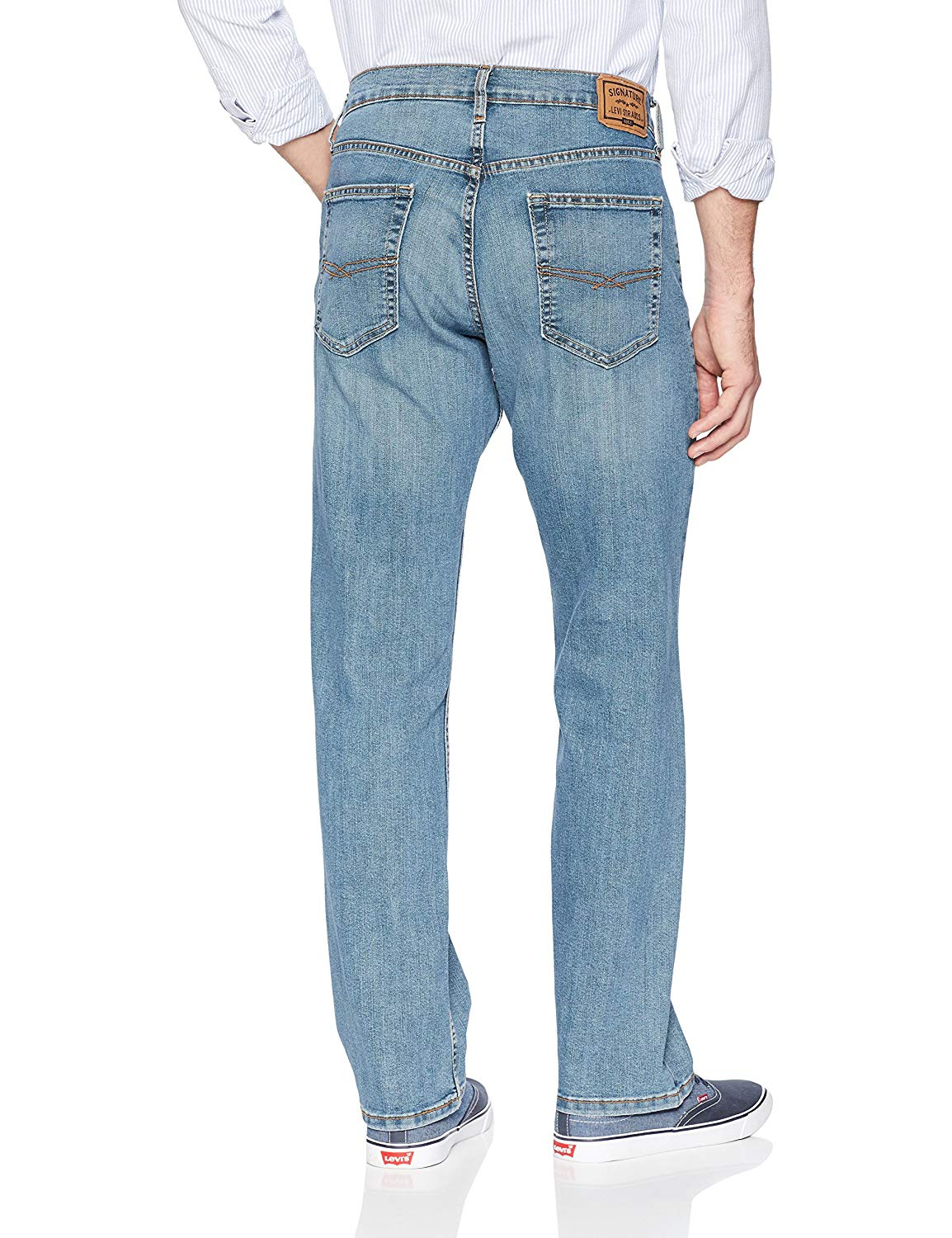 Signature-By-Levi-Strauss-amp-Co-Gold-Label-Titan-Blue-Men-Relaxed-Fit-Jeans thumbnail 2