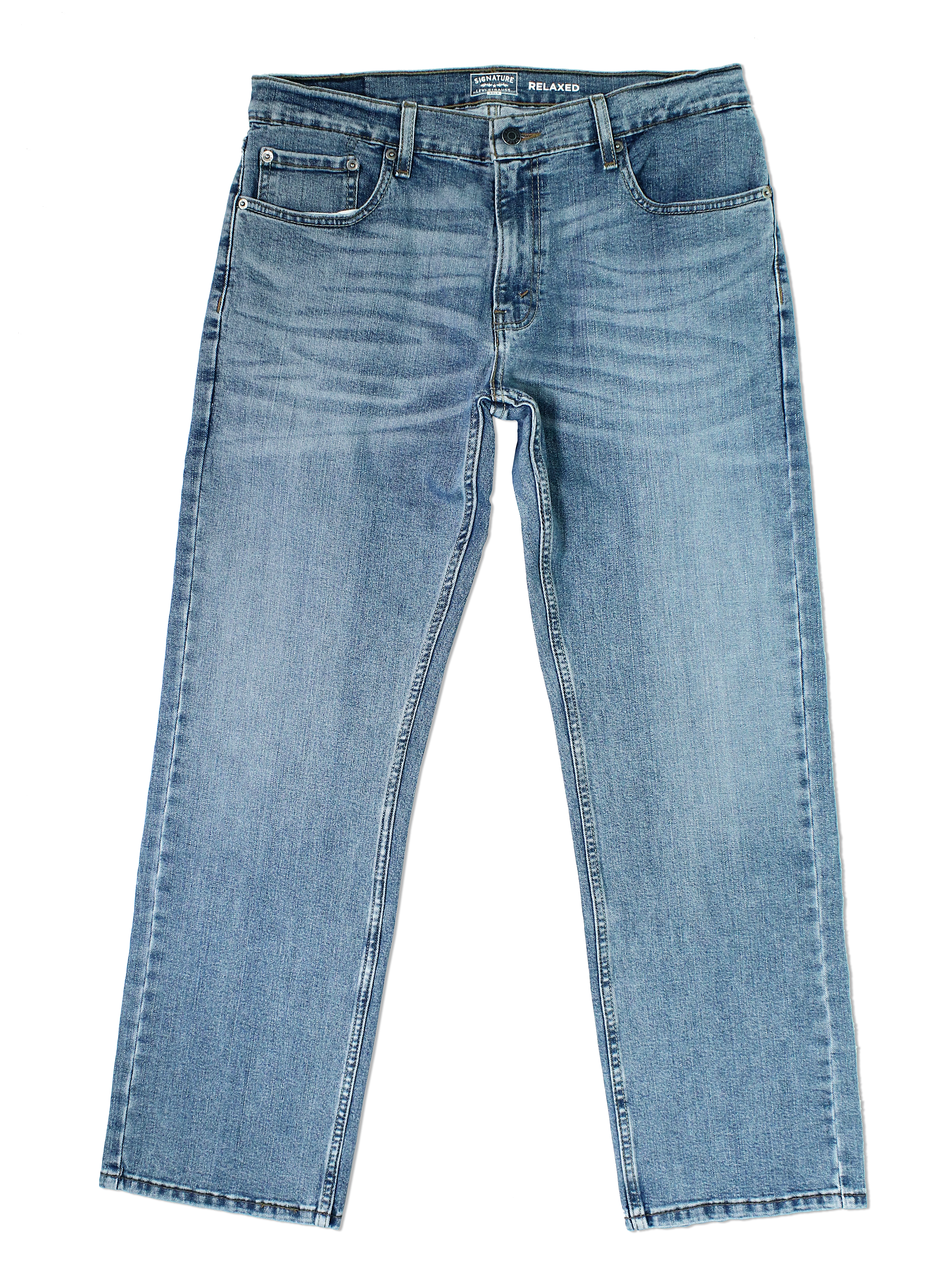 Signature-By-Levi-Strauss-amp-Co-Gold-Label-Titan-Blue-Men-Relaxed-Fit-Jeans thumbnail 3