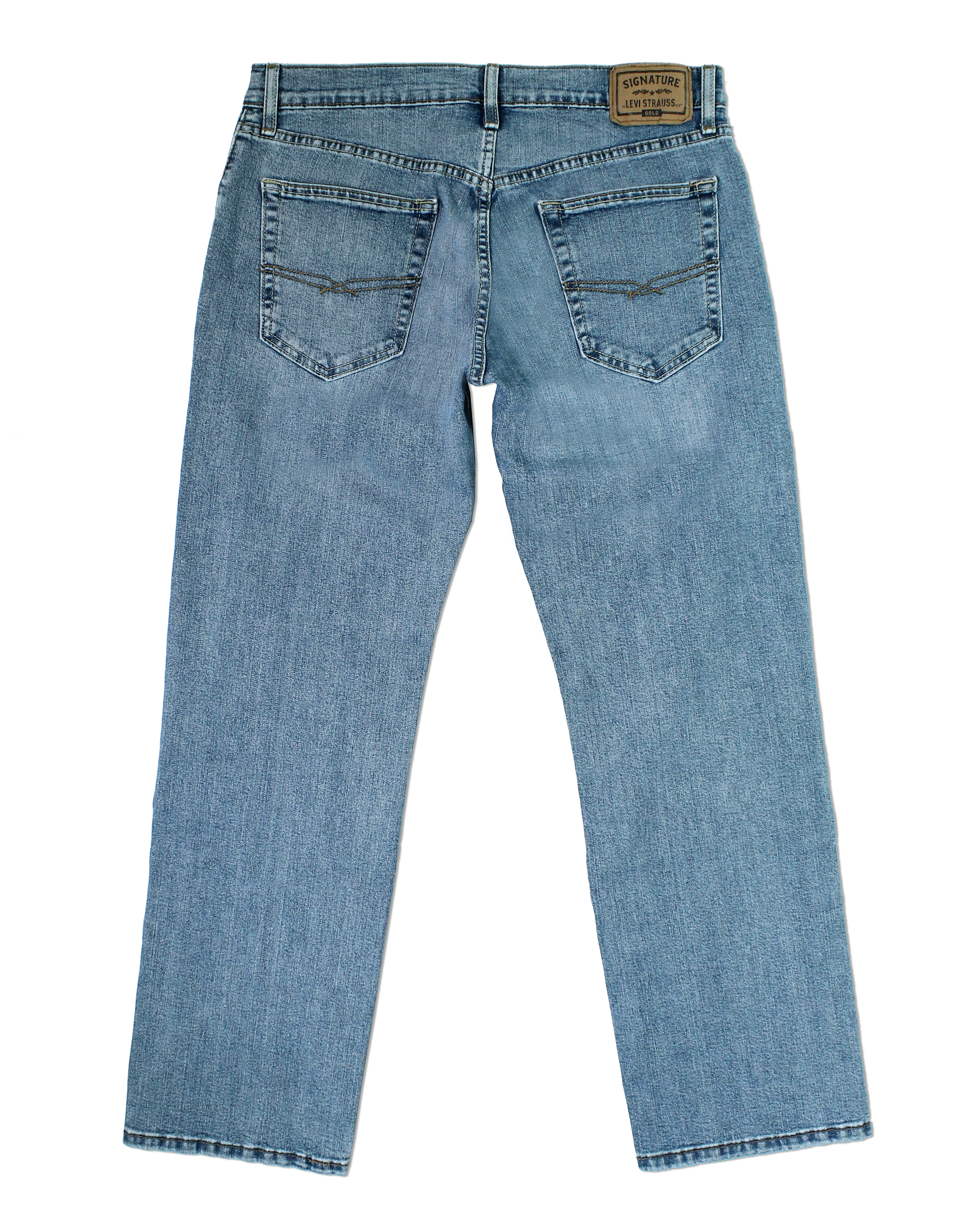 Signature-By-Levi-Strauss-amp-Co-Gold-Label-Titan-Blue-Men-Relaxed-Fit-Jeans thumbnail 4