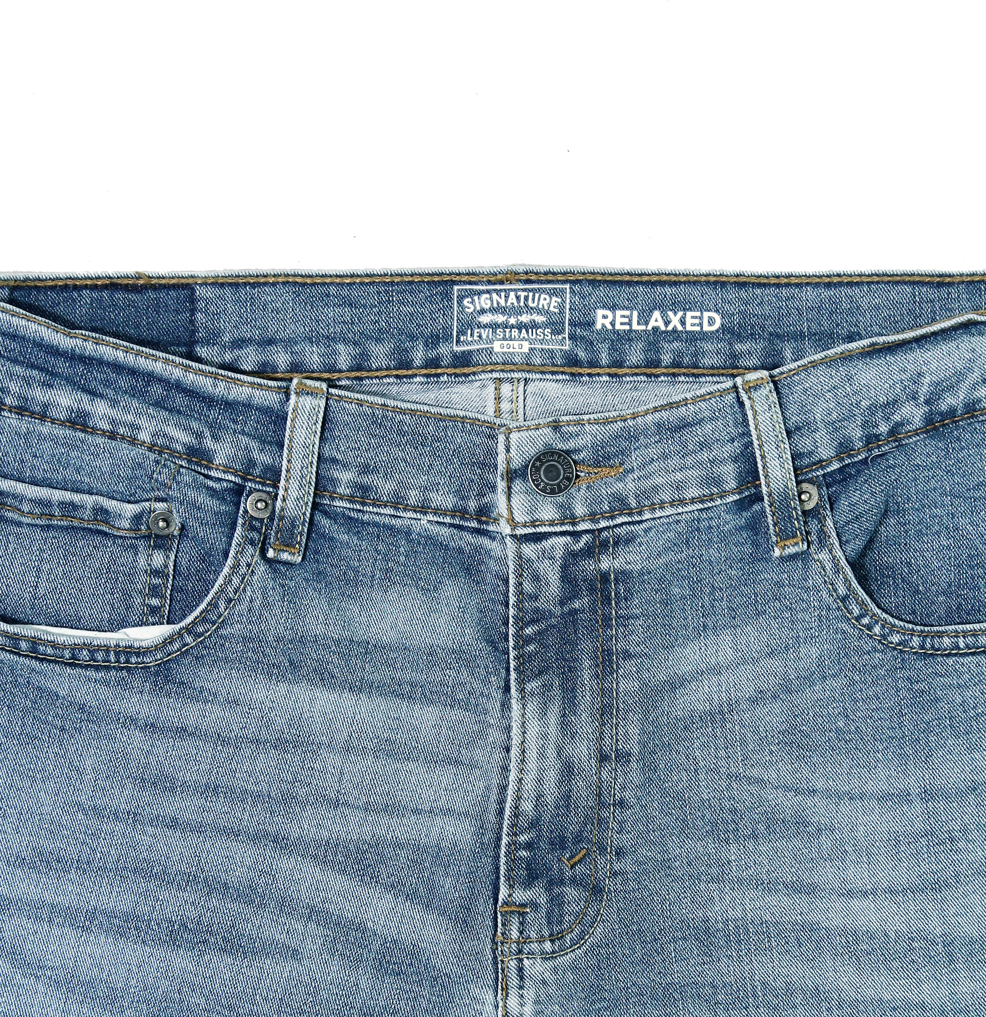 Signature-By-Levi-Strauss-amp-Co-Gold-Label-Titan-Blue-Men-Relaxed-Fit-Jeans thumbnail 5