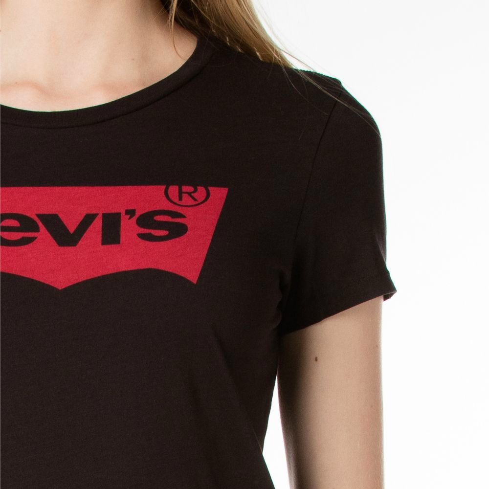 Levi-039-s-NEW-Two-Tone-Women-039-s-Classic-Batwing-Logo-Crewneck-Short-Sleeve-T-Shirt
