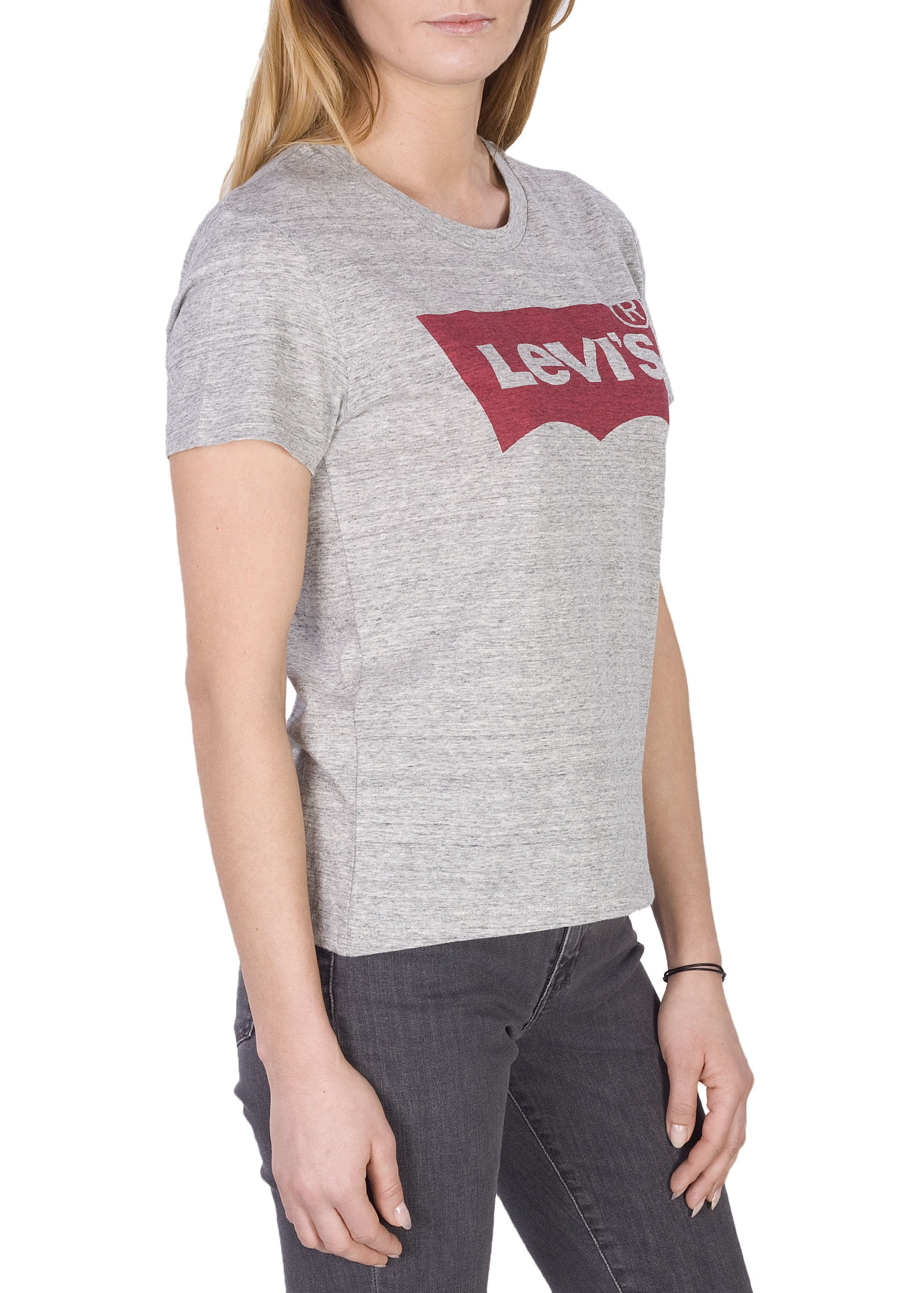 Levi-039-s-NEW-Two-Tone-Women-039-s-Classic-Batwing-Logo-Crewneck-Short-Sleeve-T-Shirt thumbnail 5