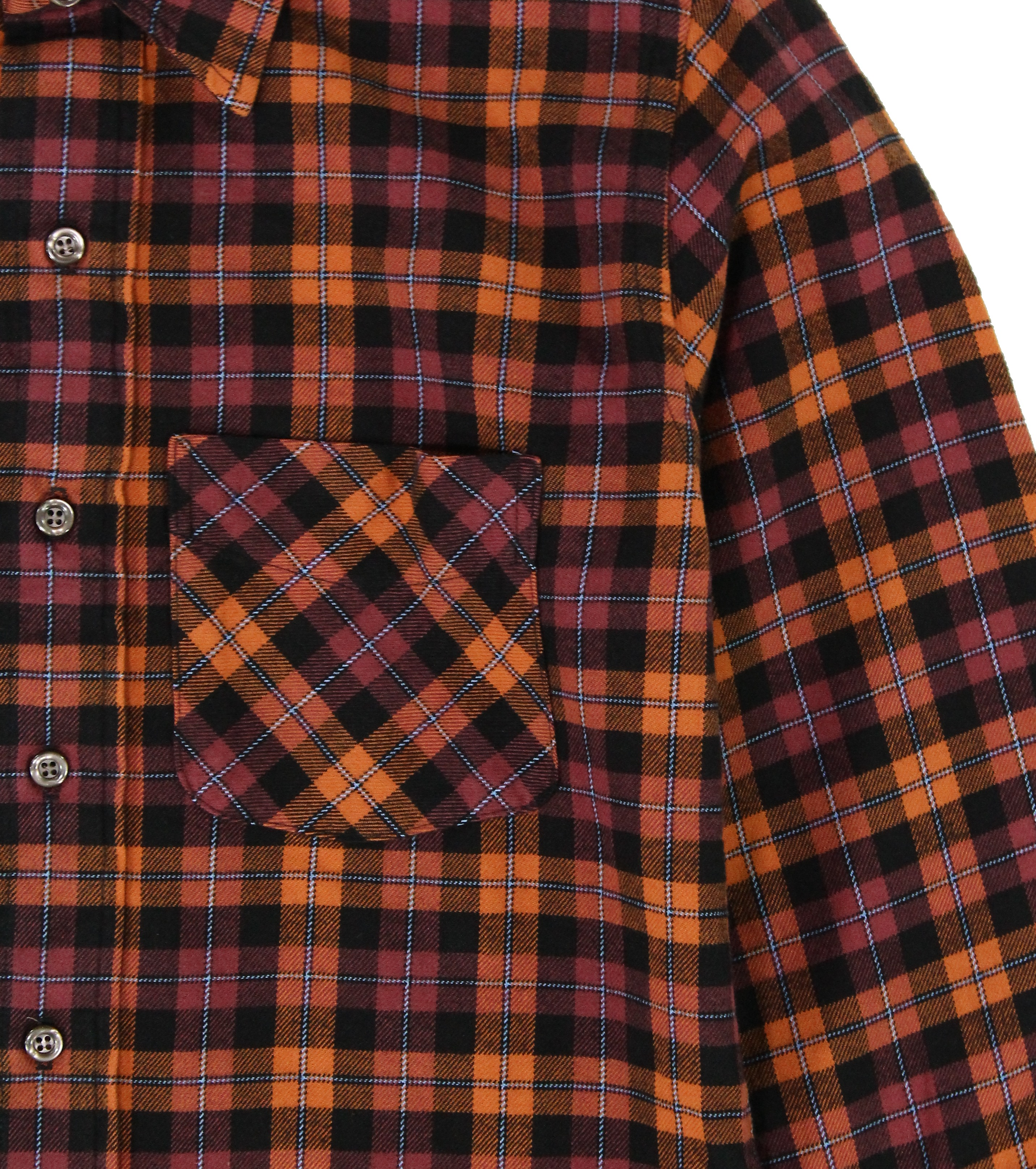 American-Apparel-NEW-Mens-Plaid-Flannel-Lumberjack-Classic-Fit-Button-Down-Shirt thumbnail 15