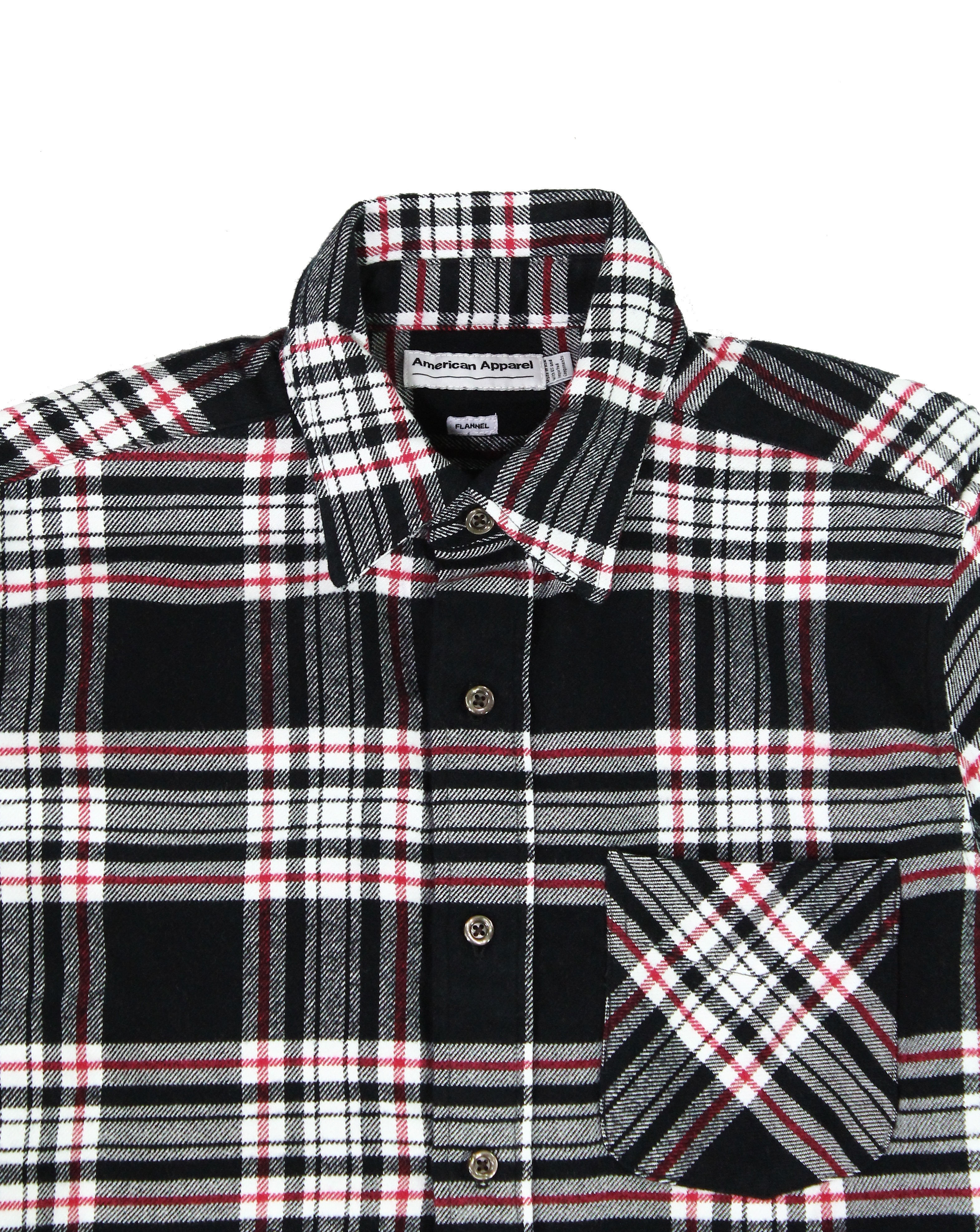 American-Apparel-NEW-Mens-Plaid-Flannel-Lumberjack-Classic-Fit-Button-Down-Shirt thumbnail 3