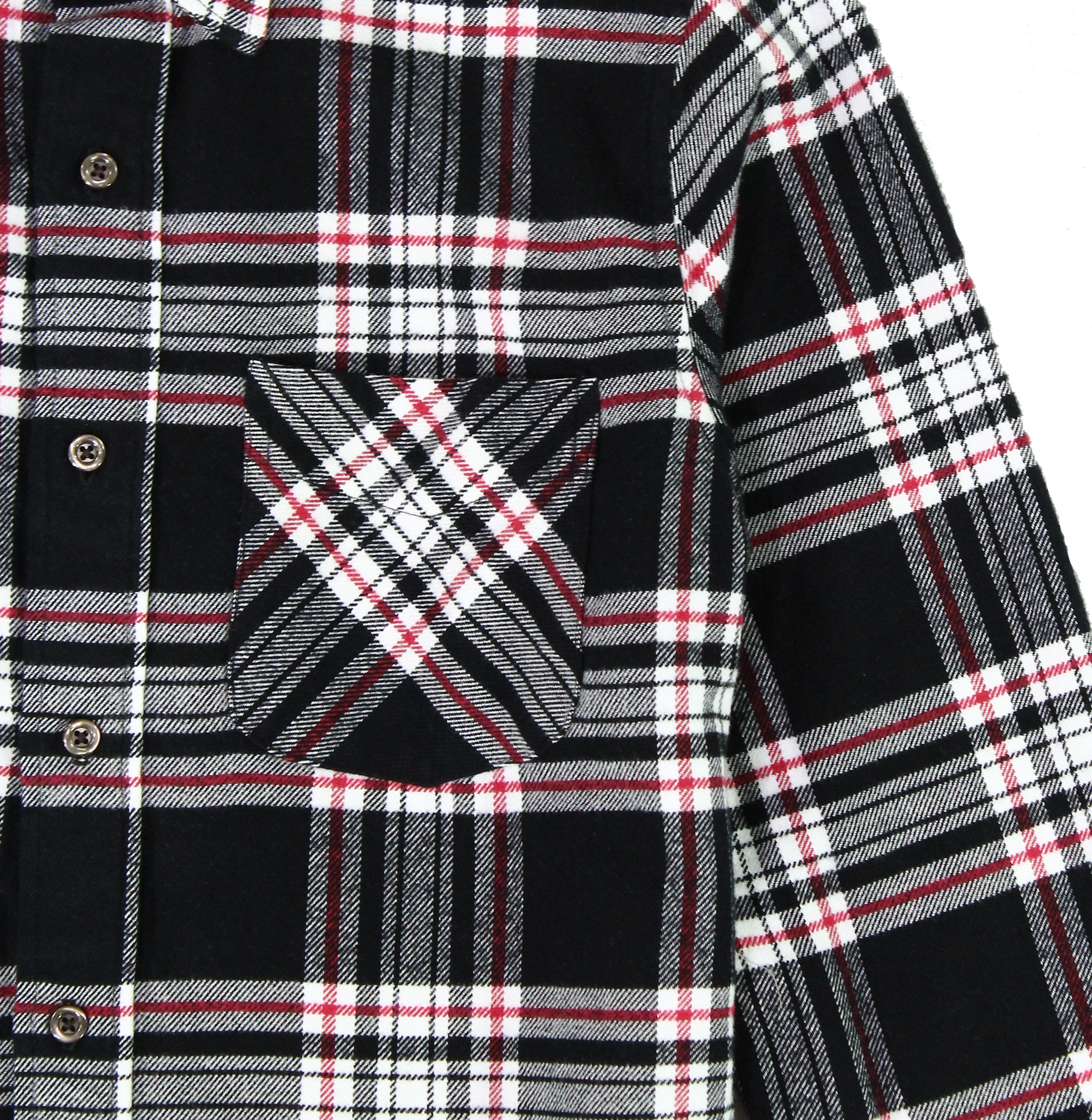 American-Apparel-NEW-Mens-Plaid-Flannel-Lumberjack-Classic-Fit-Button-Down-Shirt thumbnail 5