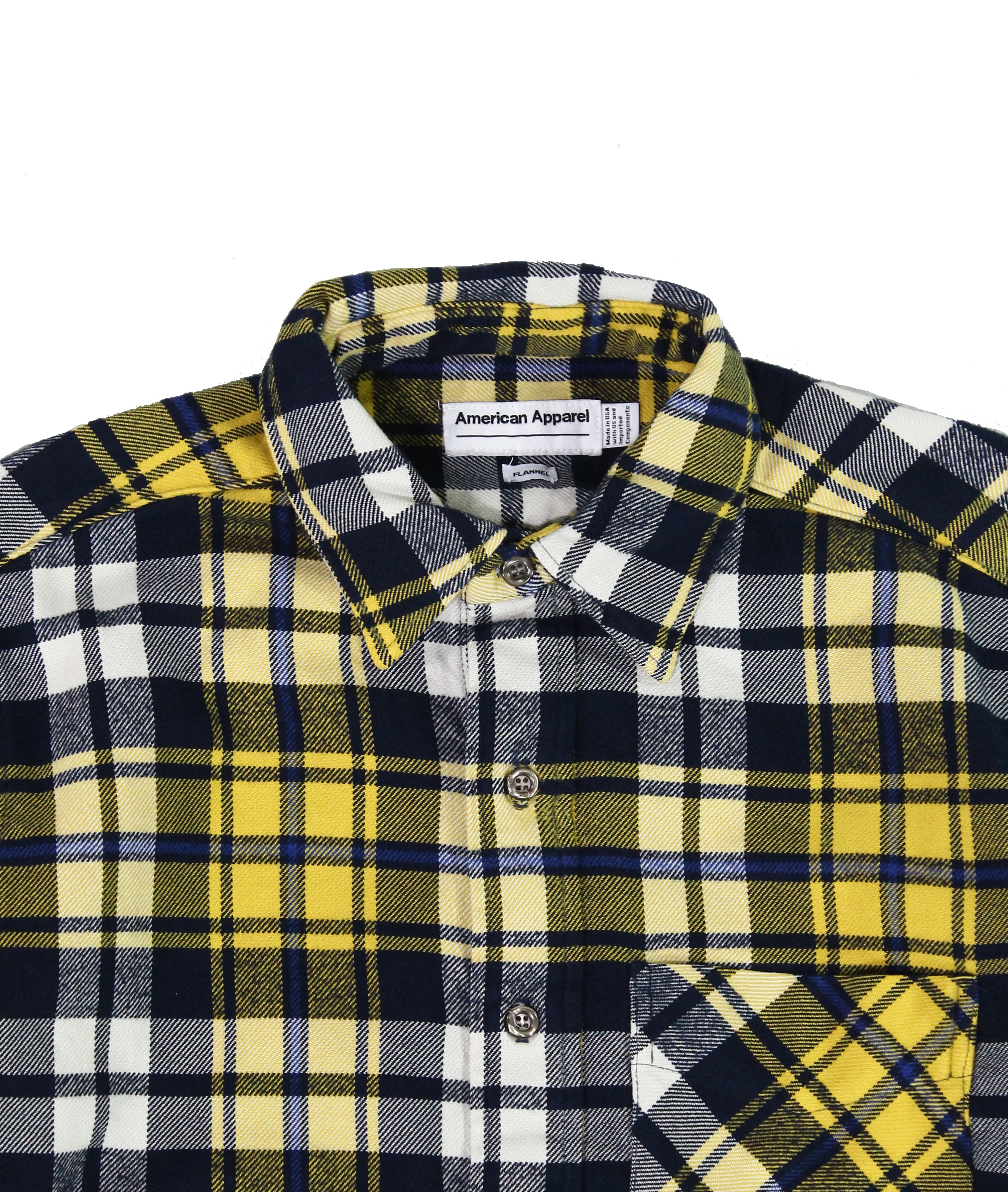 American-Apparel-NEW-Mens-Plaid-Flannel-Lumberjack-Classic-Fit-Button-Down-Shirt thumbnail 18