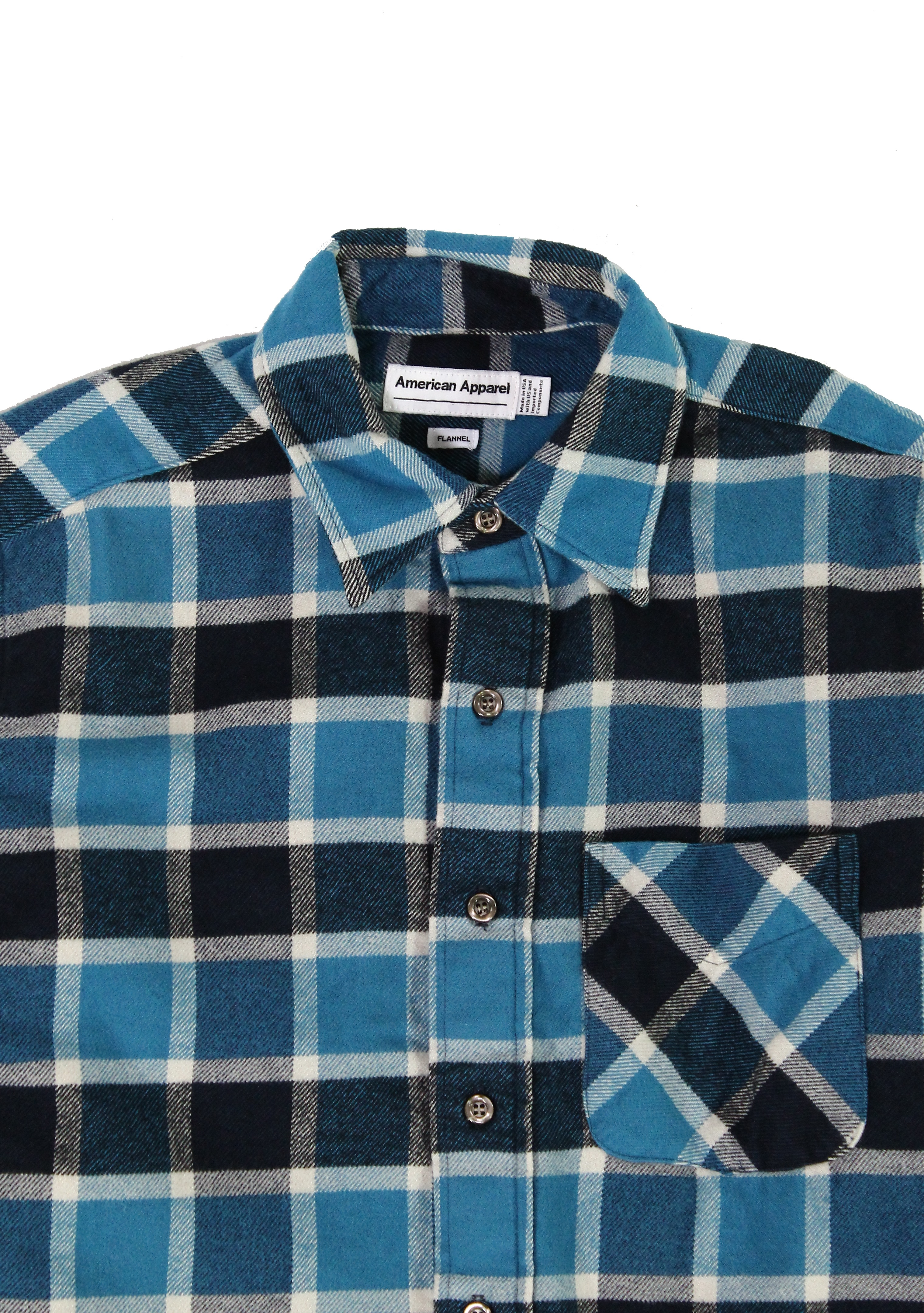 American-Apparel-NEW-Mens-Plaid-Flannel-Lumberjack-Classic-Fit-Button-Down-Shirt thumbnail 8