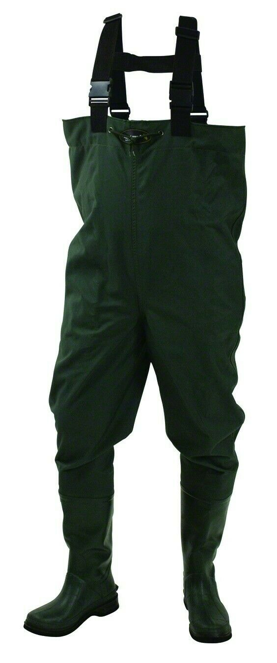 FROGG TOGGS NEW Mallard Green Mens Size 7 Bootfoot Work Chest Waders 150 #504
