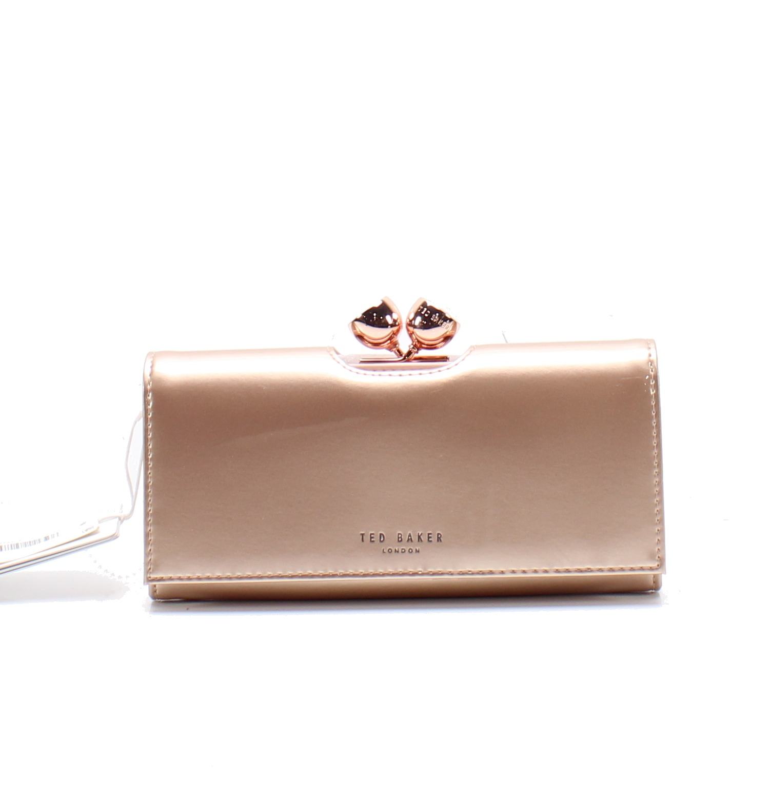 3aa8edc2d1d8 Ted Baker NEW Light Pink Bobble Closure Patent Leather Matinee Wallet  149-   040