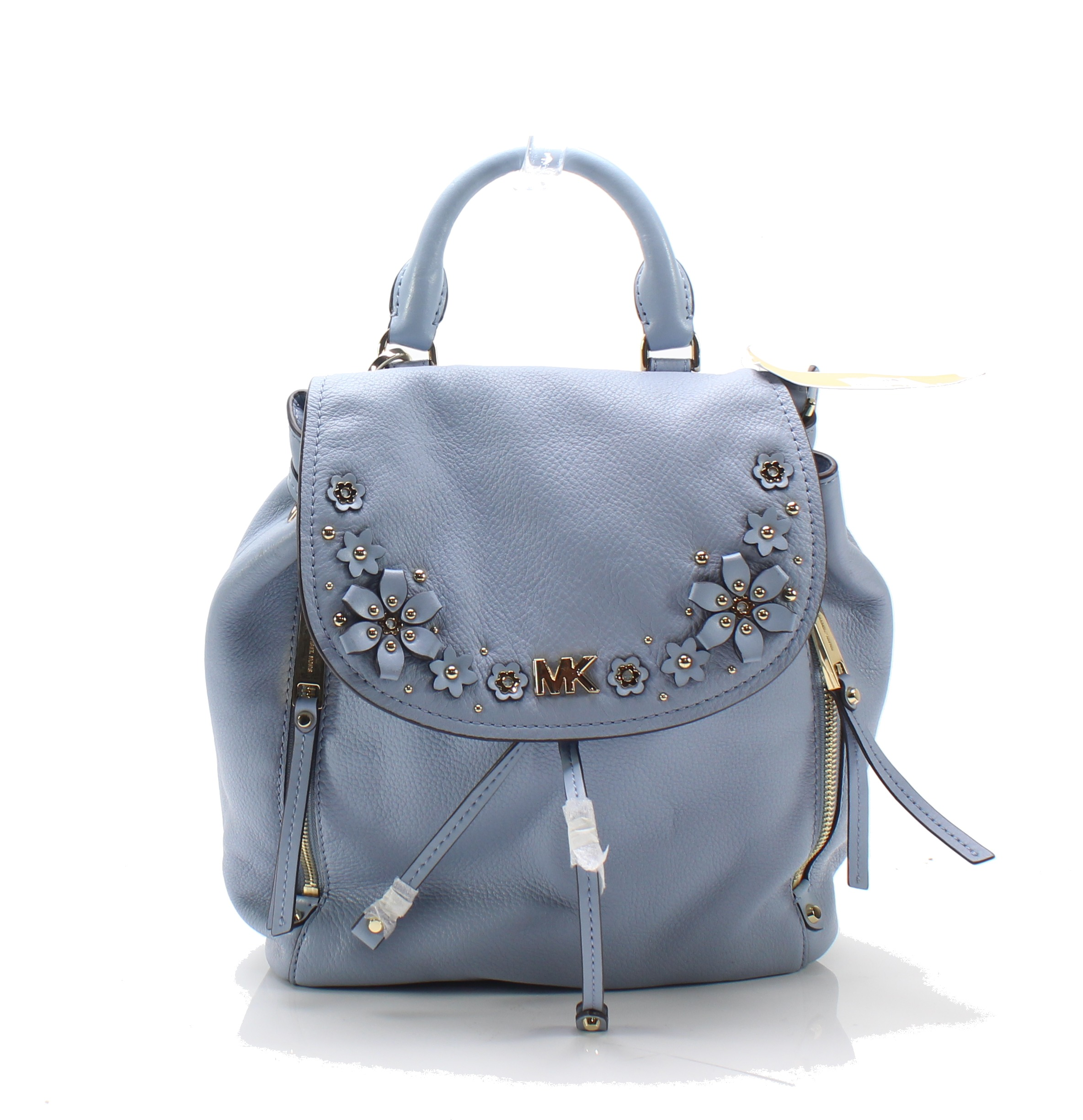 f18bd1bcb96f Michael Kors NEW Pale Blue Evie Small Flower Garden Leather Backpack  368-   028