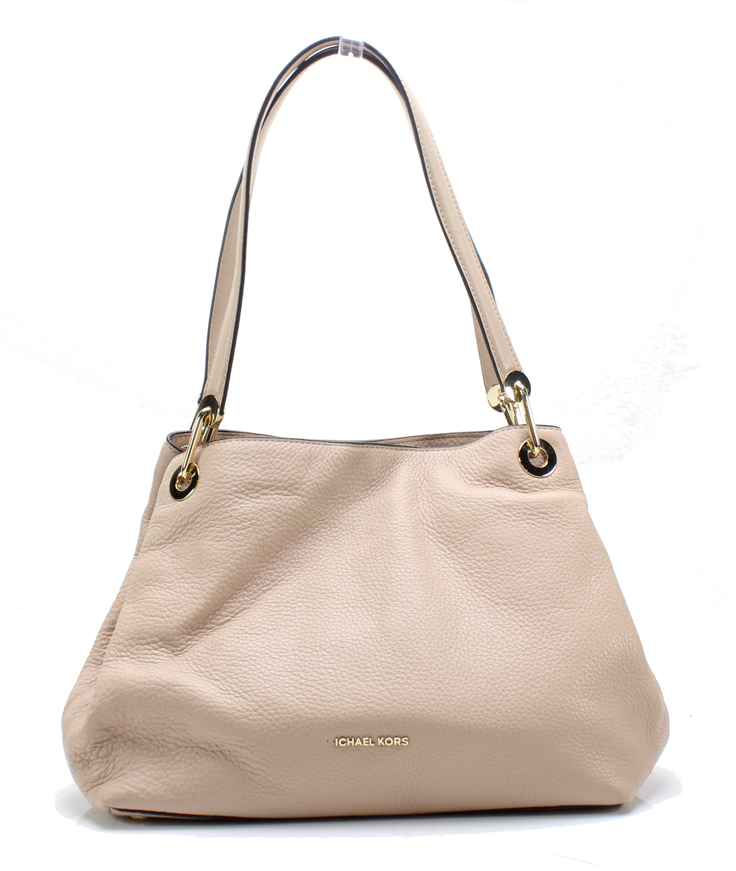 588423cd107d Details about Michael Kors NEW Oyster Gold Raven Large Pebble Leather Tote  Bag $298- #059