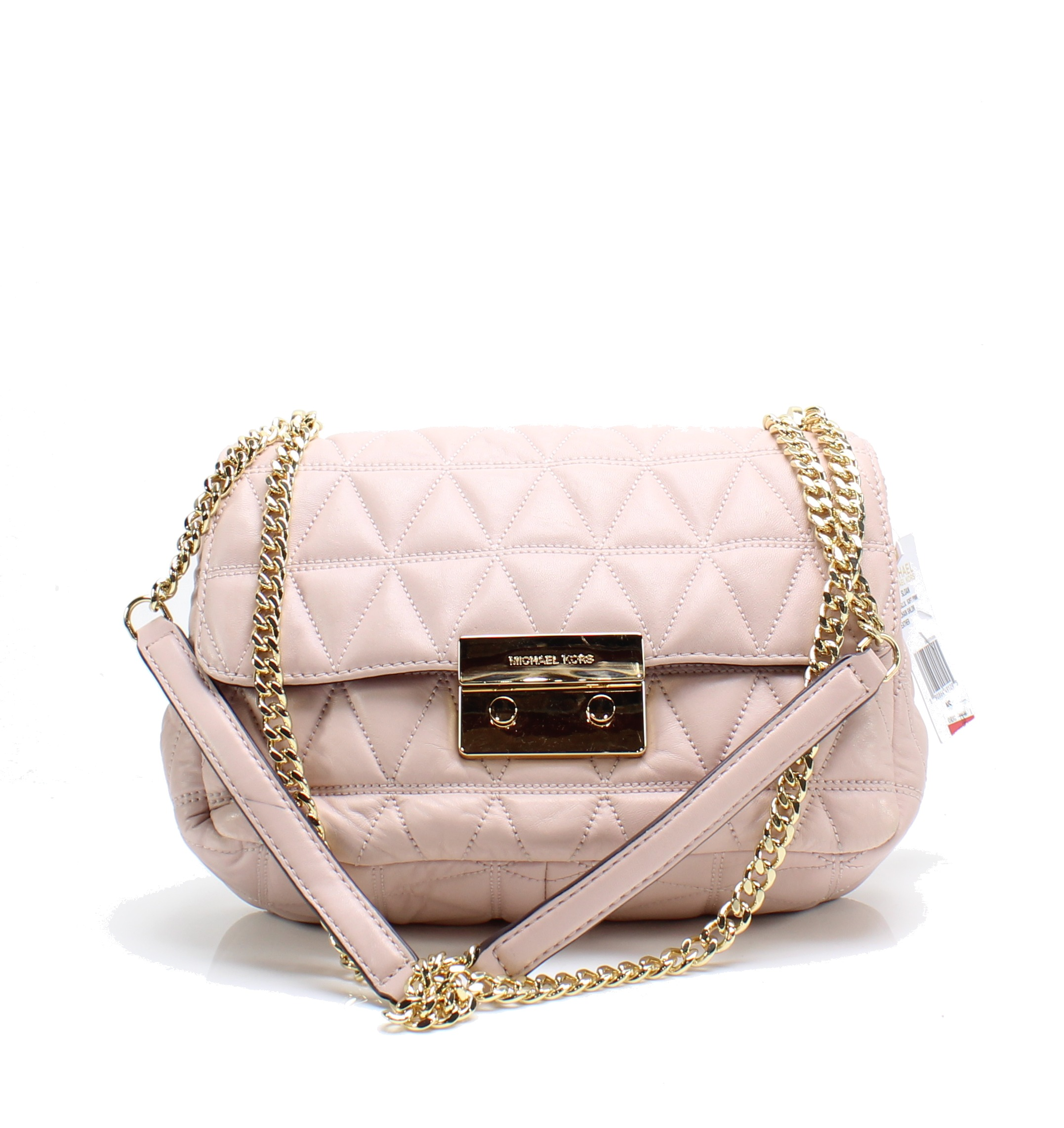 294544126732cc Details about Michael Kors NEW Soft Pink Sloan Large Quilted-Leather Shoulder  Bag $328- #002