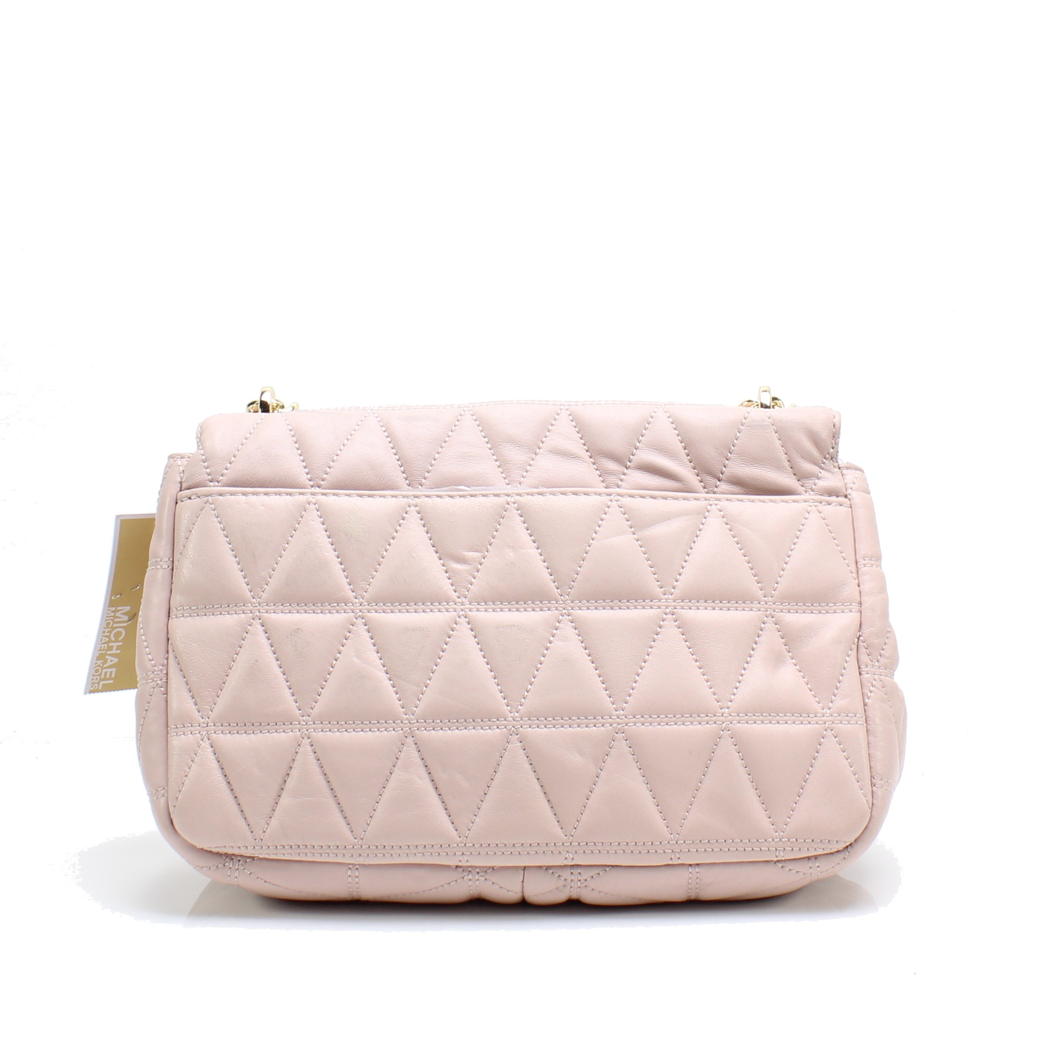 27a1a2a62e58 Michael Kors NEW Soft Pink Sloan Large Quilted-Leather Shoulder Bag ...