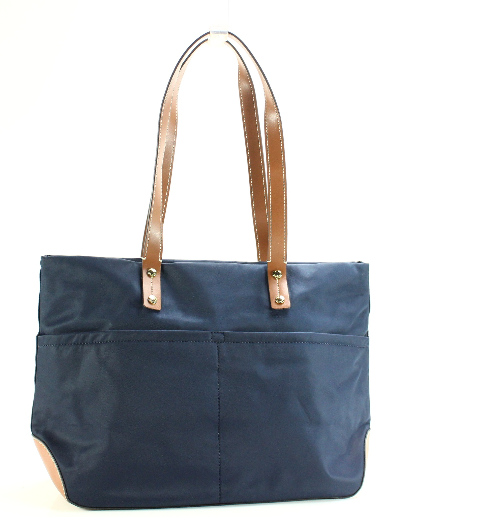 68bfbc62c048 Navy And White Tote Handbag