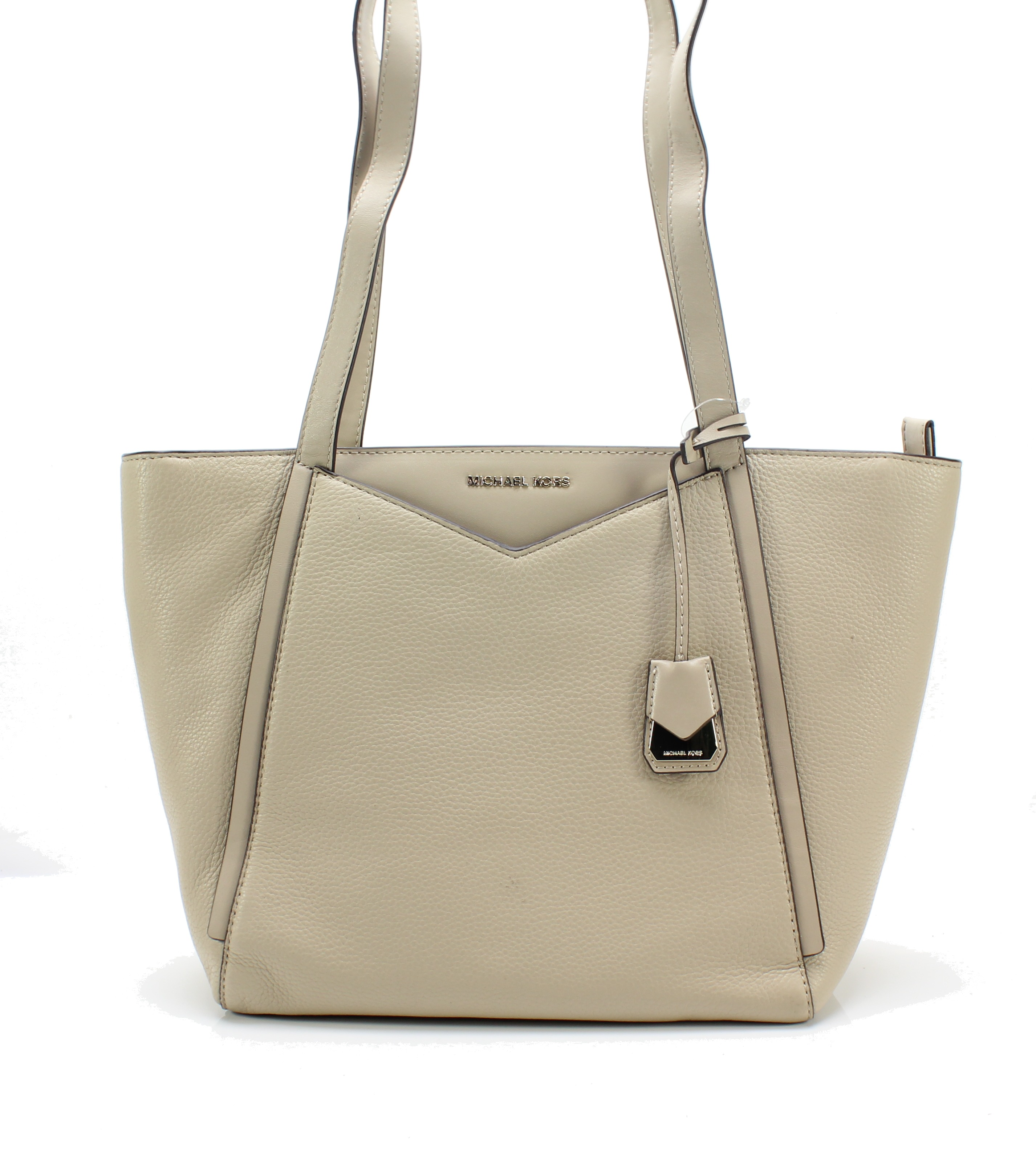 e483ee6b9589 Michael Kors NEW Oat Gold Whitney Small Top Zip Pebble Leather Tote  228-   012