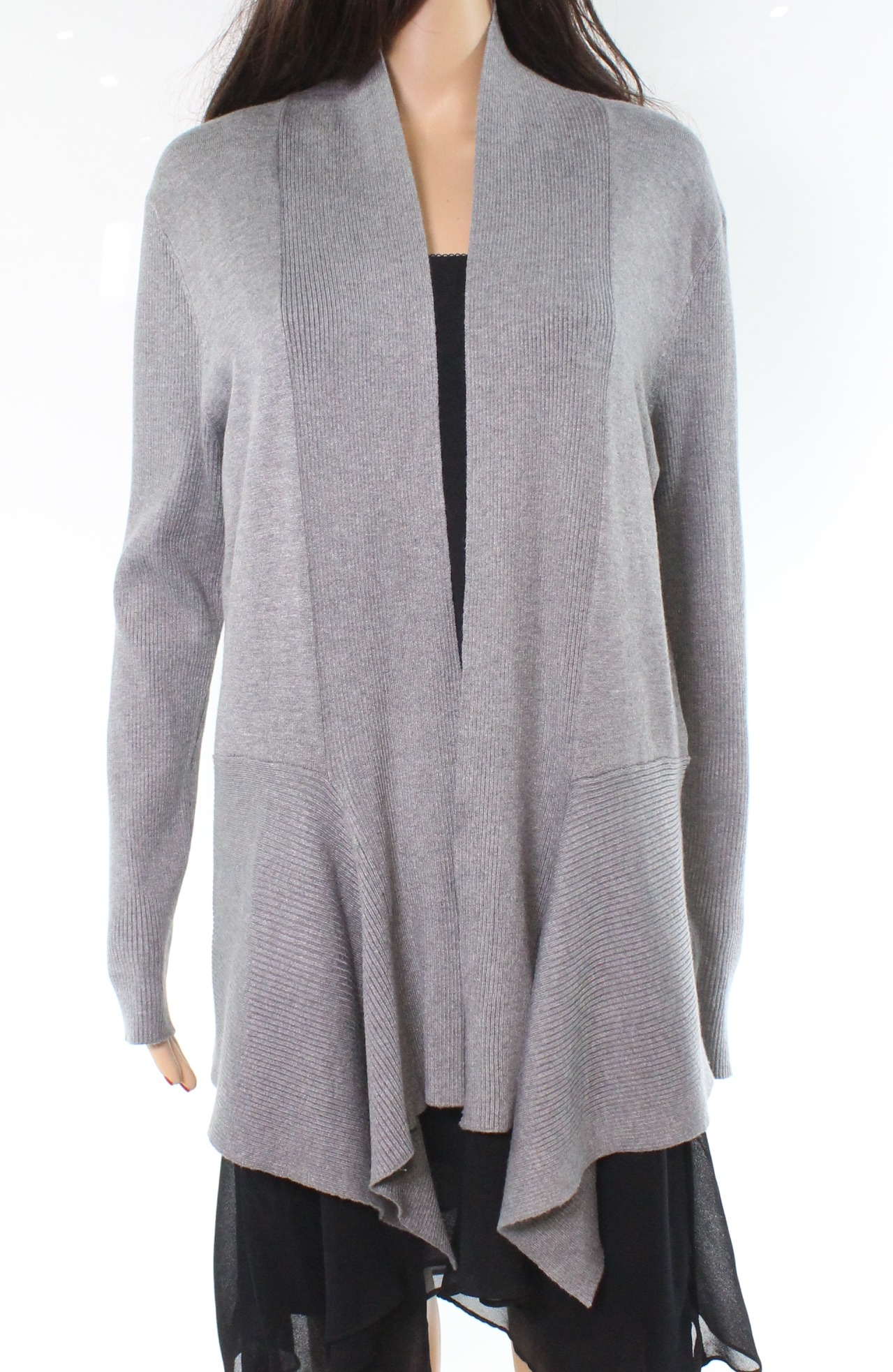 70ea0d30d Cable   Gauge NEW Gray Women s Size XL Open Front Cardigan Sweater ...