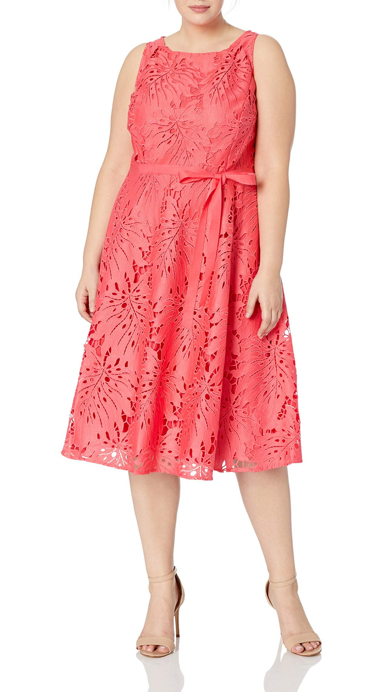 Tahari by ASL NEW Pink Women's USA 16 Floral Lace A-Line Sheath Dress