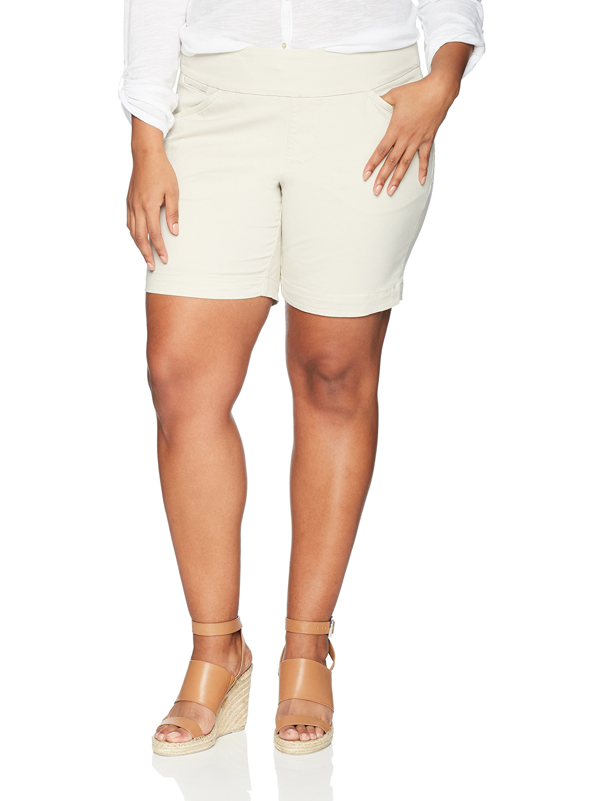 60622e71584 Details about Jag Jeans NEW Beige Women s Size 14W Plus Pull On Bermuda  Shorts  69  755