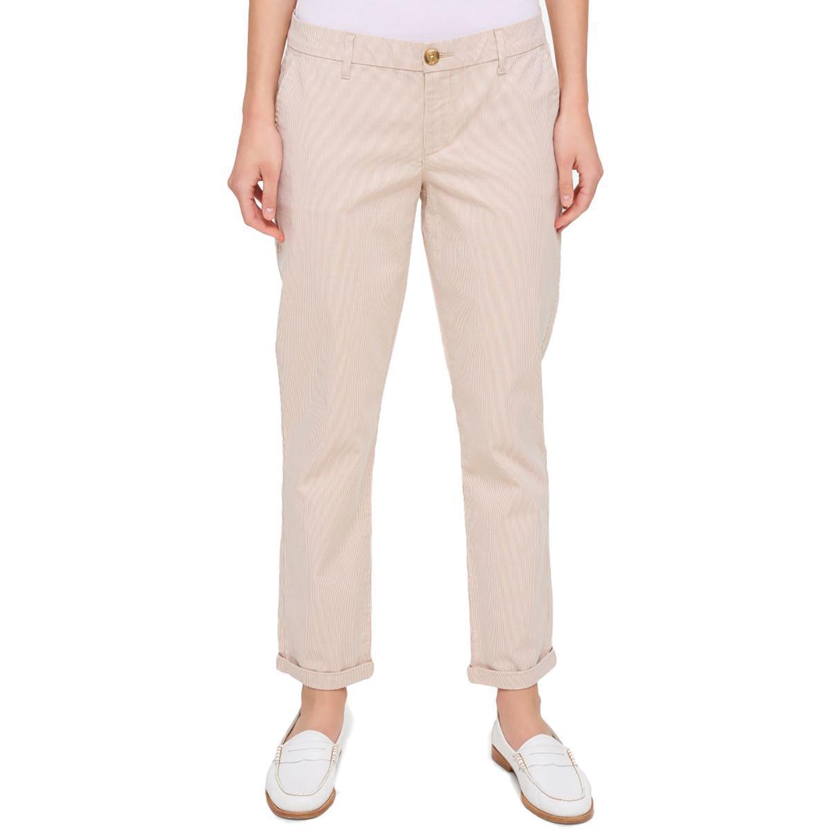 0e398042 Tommy Hilfiger NEW Beige Women's Size 18 Hampton Striped Chino Pants $69  #882