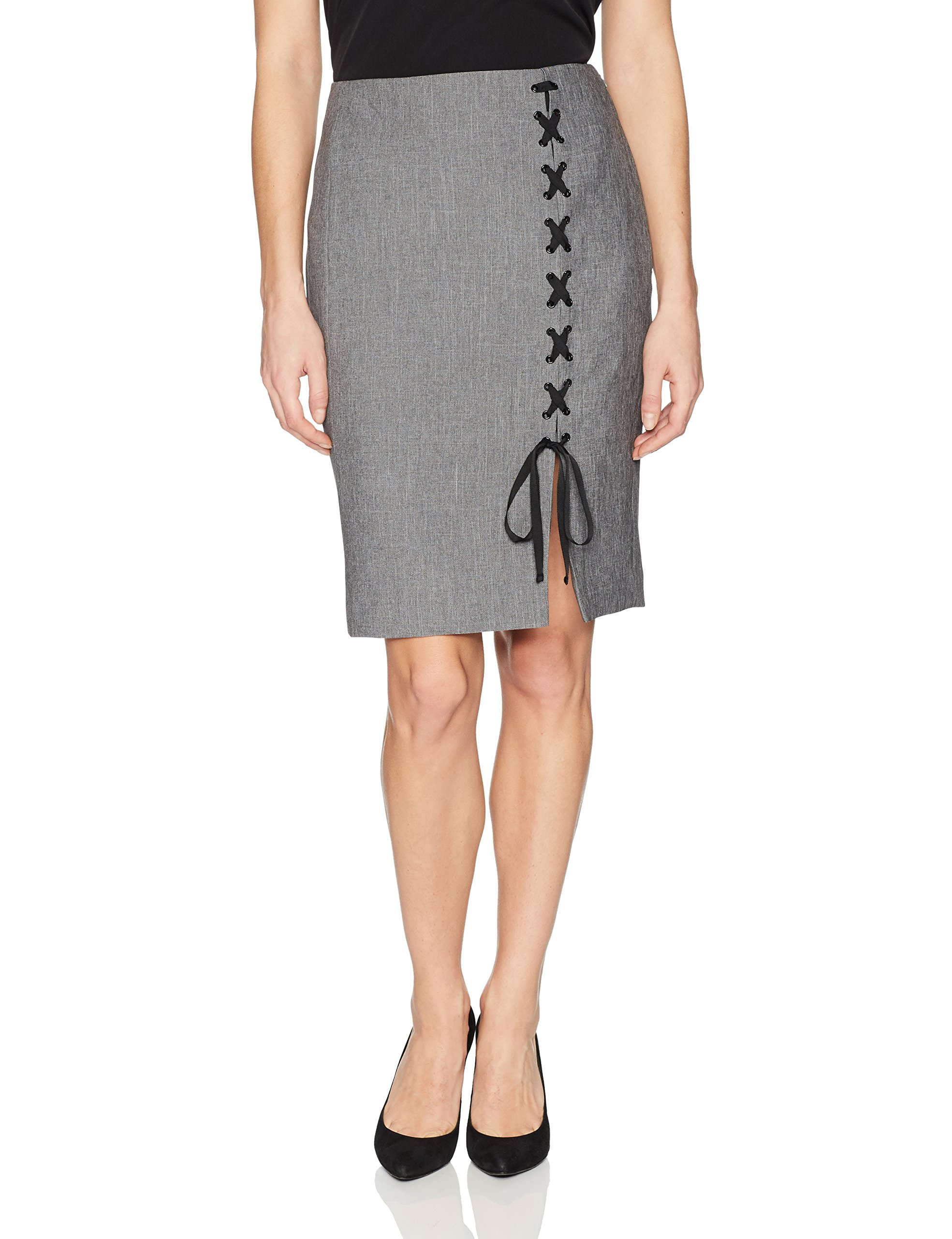 cacab48cb18eb Nine West NEW Gray Women s Size 2 Straight Pencil Lace Up Detail Skirt  79   701