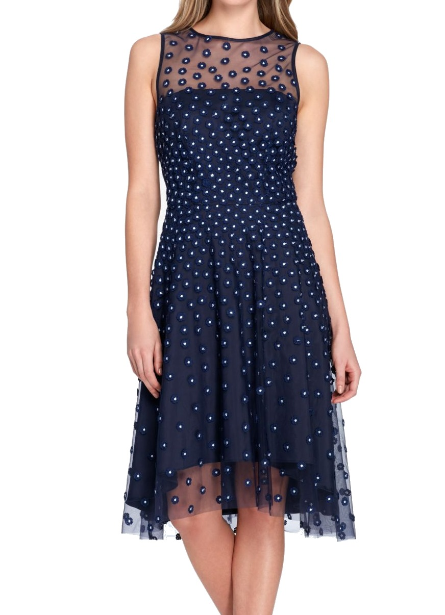 bedc2db6 Details about Tahari by ASL NEW Blue Women's Size 18 Floral Embroidered Sheath  Dress $178 #097