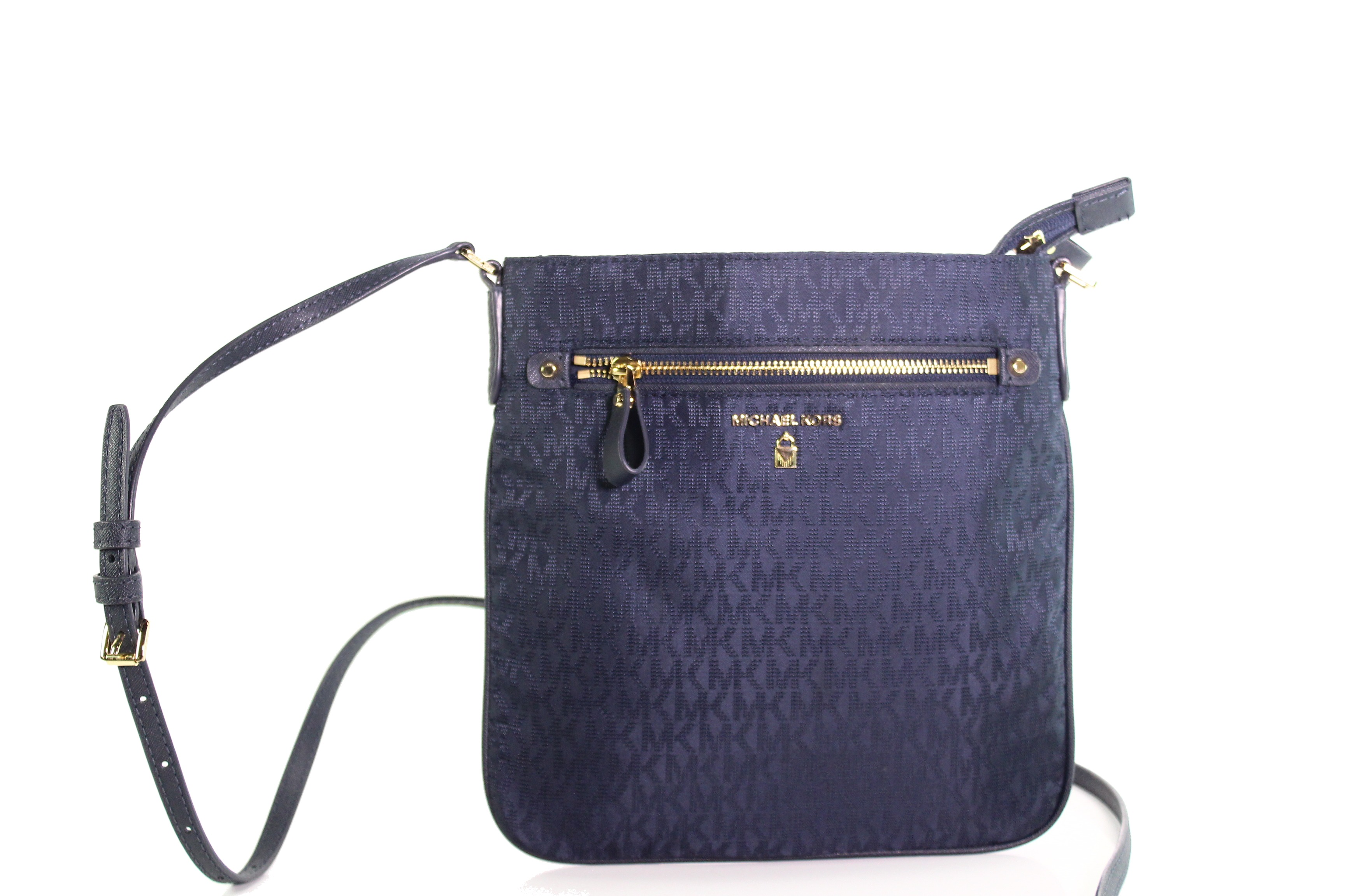 856be06407c9 Details about Michael Kors NEW Admiral Blue Nylon Kelsey Large Crossbody  Bag Purse  108-  035