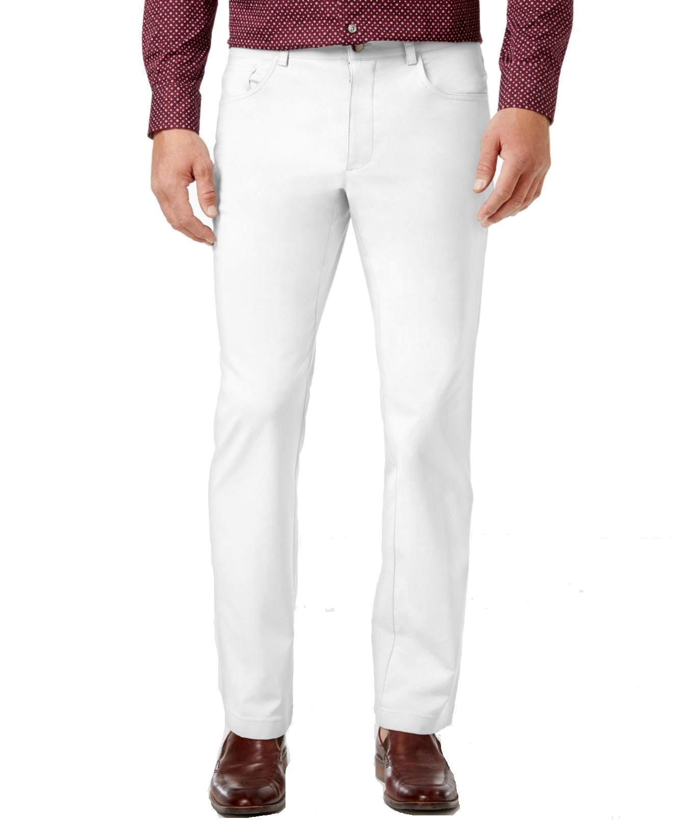 INC-NEW-White-Mens-Size-32X32-Slim-Fit-Khakis-Chinos-Stretch-Pants