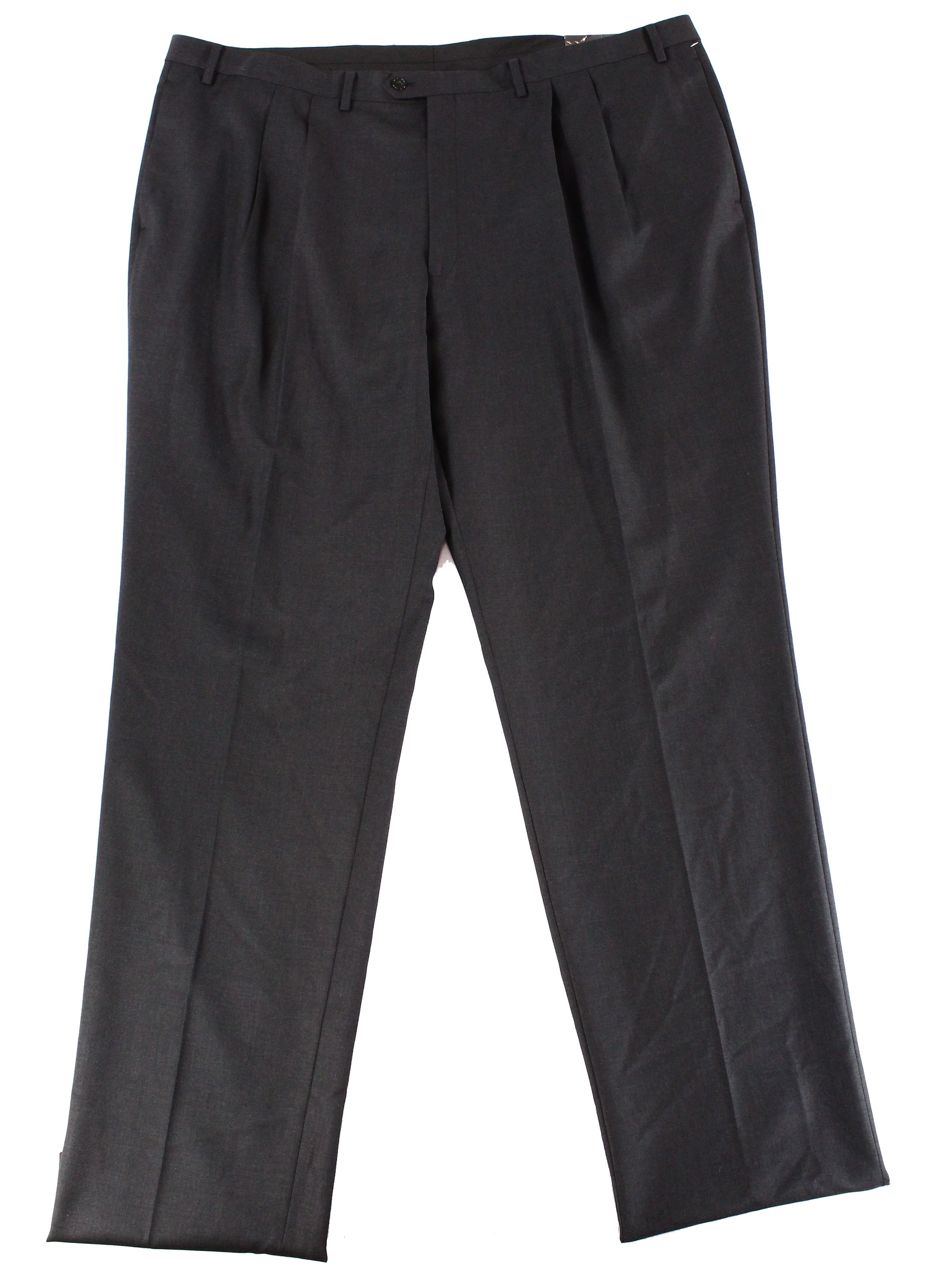 Tasso-Elba-NEW-Black-Mens-Size-48X40-Dress-Double-Pleated-Wool-Pants