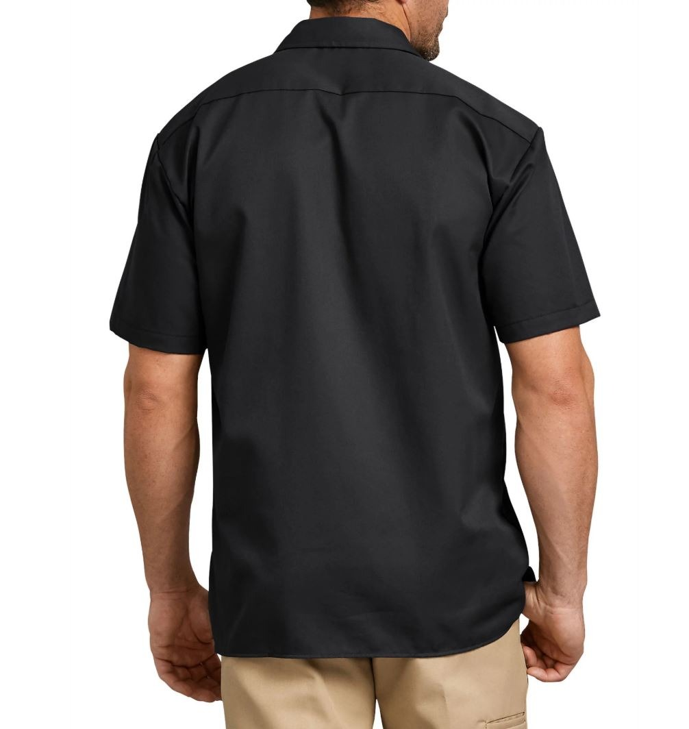Dickies-NEW-Mens-Button-Down-Twill-Flex-Wrinkle-Resistant-Industrial-Work-Shirt thumbnail 3