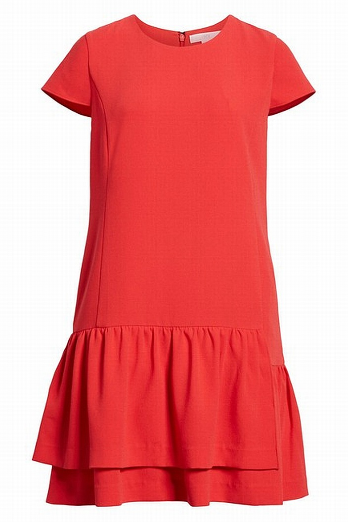 196fb485d3bd5 1901 NORDSTROM NEW Red Women's Size PXXS Petite Ruffle Hem Shift Dress $99  #124