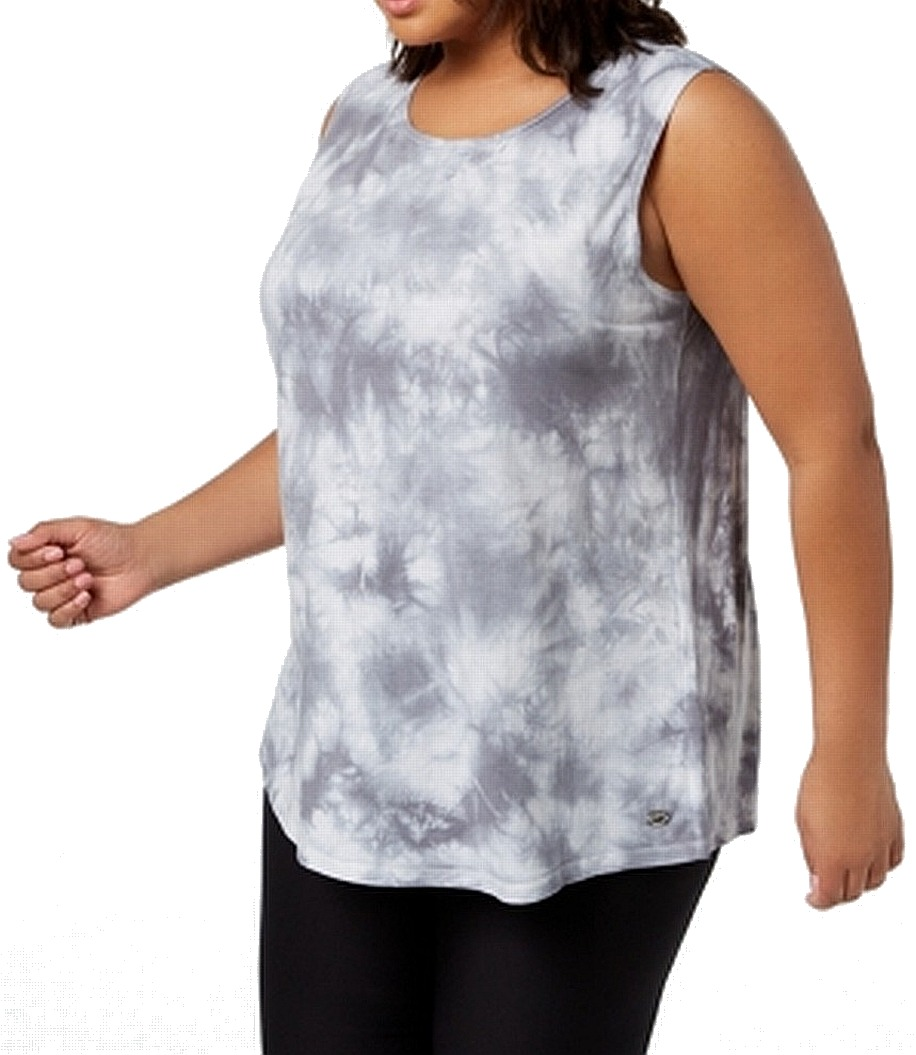 Gray Size Dyed Us Women's 1x Details Tie Tank49064 Klein Top Activewear Plus About Calvin DI9HE2