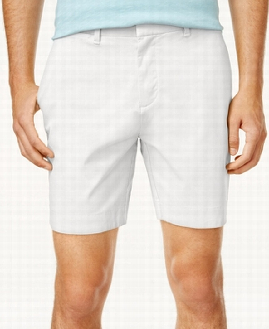 Tommy-Hilfiger-NEW-White-Mens-Size-40-Stretch-Flat-Front-Chinos-Shorts