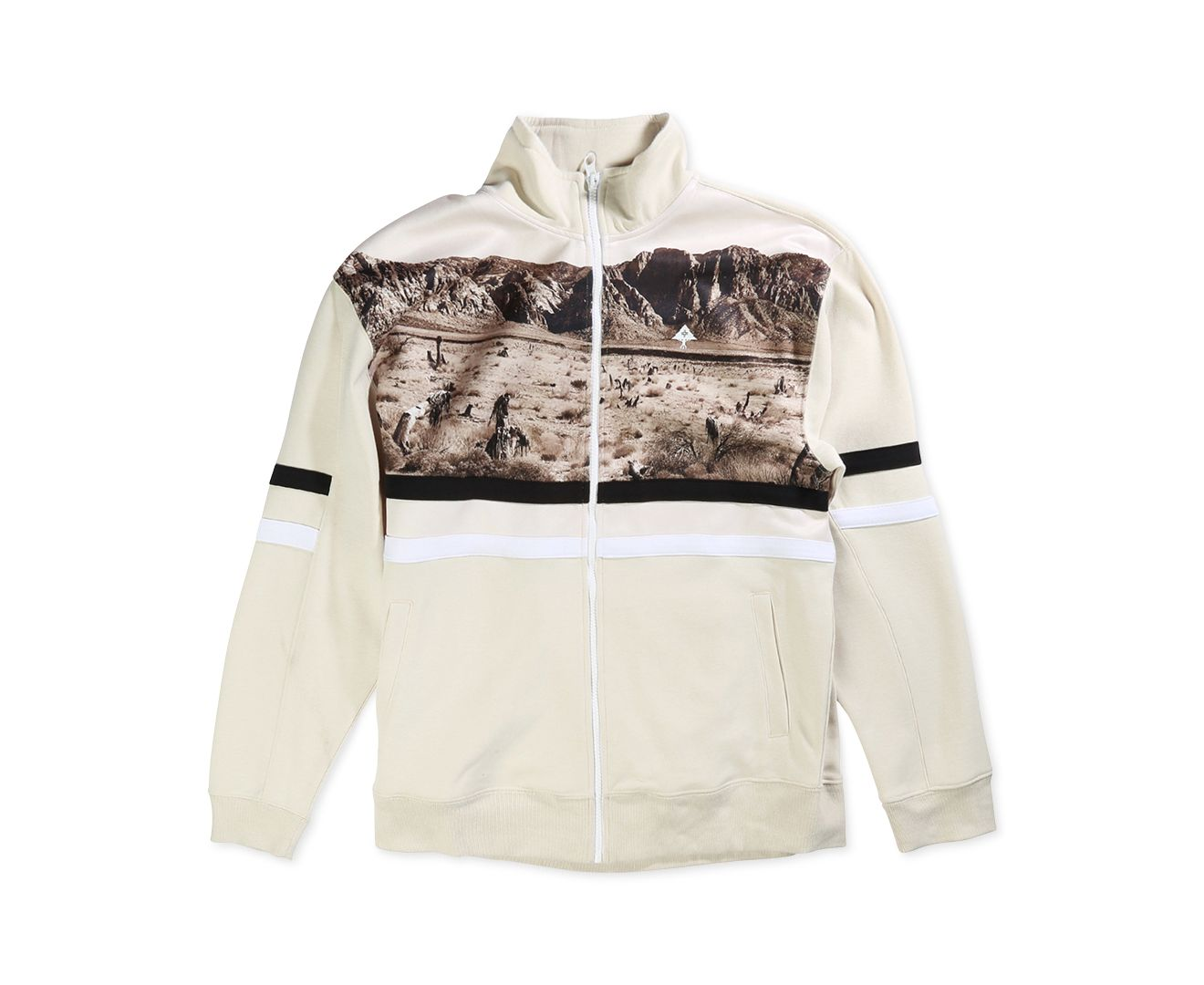 LRG NEW Beige Mens Größe XL Stripe Desert Track Fleece Full-Zip Jacket 79  195