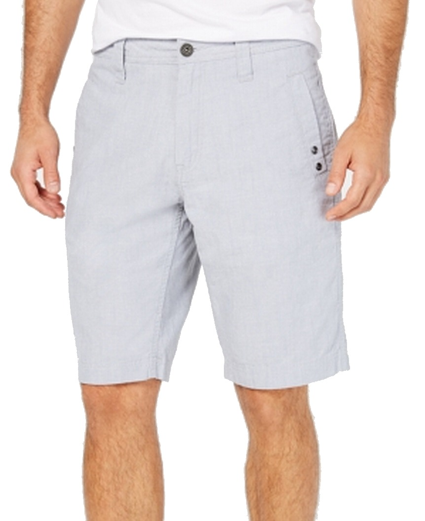 New-INC-NEW-Blue-Pale-Mens-Size-33-Flat-Front-Zip-Fly-Regular-Fit-Shorts-49-231