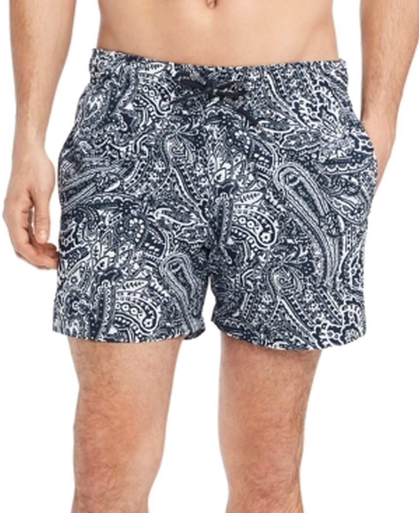 New-Tommy-Hilfiger-NEW-Navy-Blue-Mens-Size-Small-S-Board-Surf-Shorts-69-373