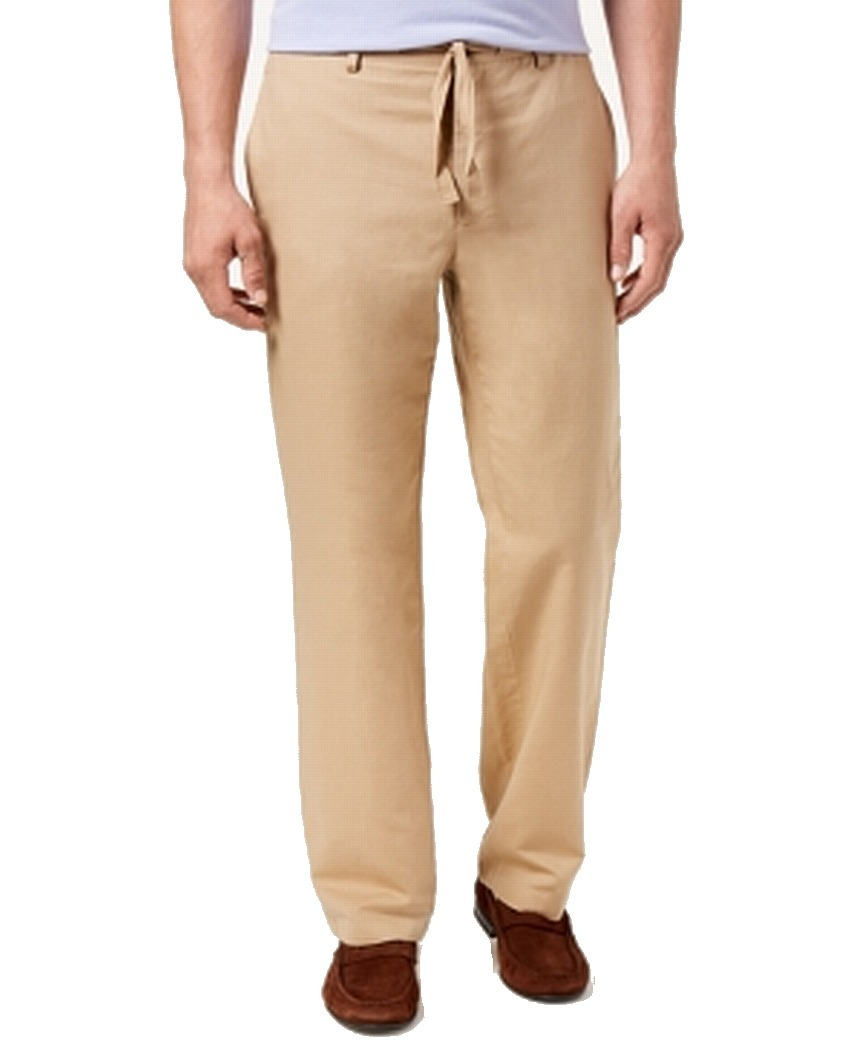 INC-NEW-Beige-Mens-Size-34X30-Drawstring-London-Regular-Fit-Pants