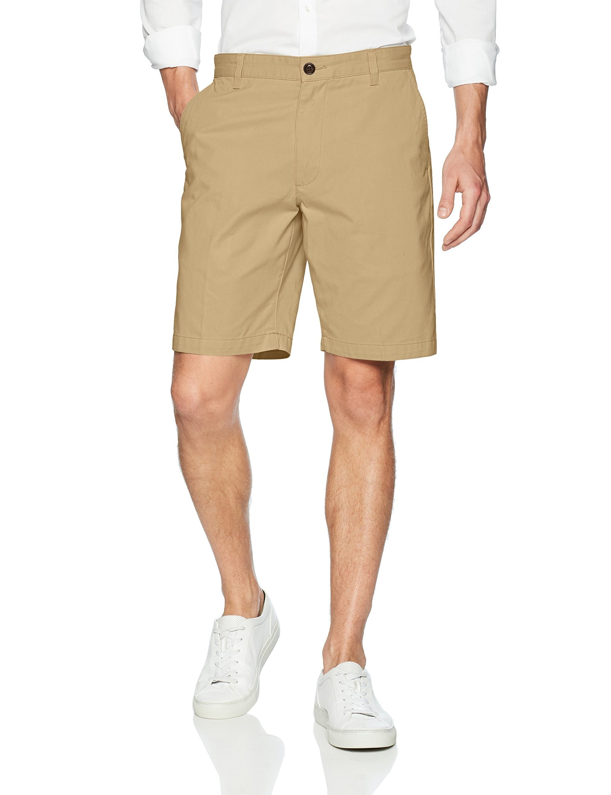 Dockers-NEW-Beige-Mens-Size-40-Khakis-Classic-Fit-Flat-Front-Shorts
