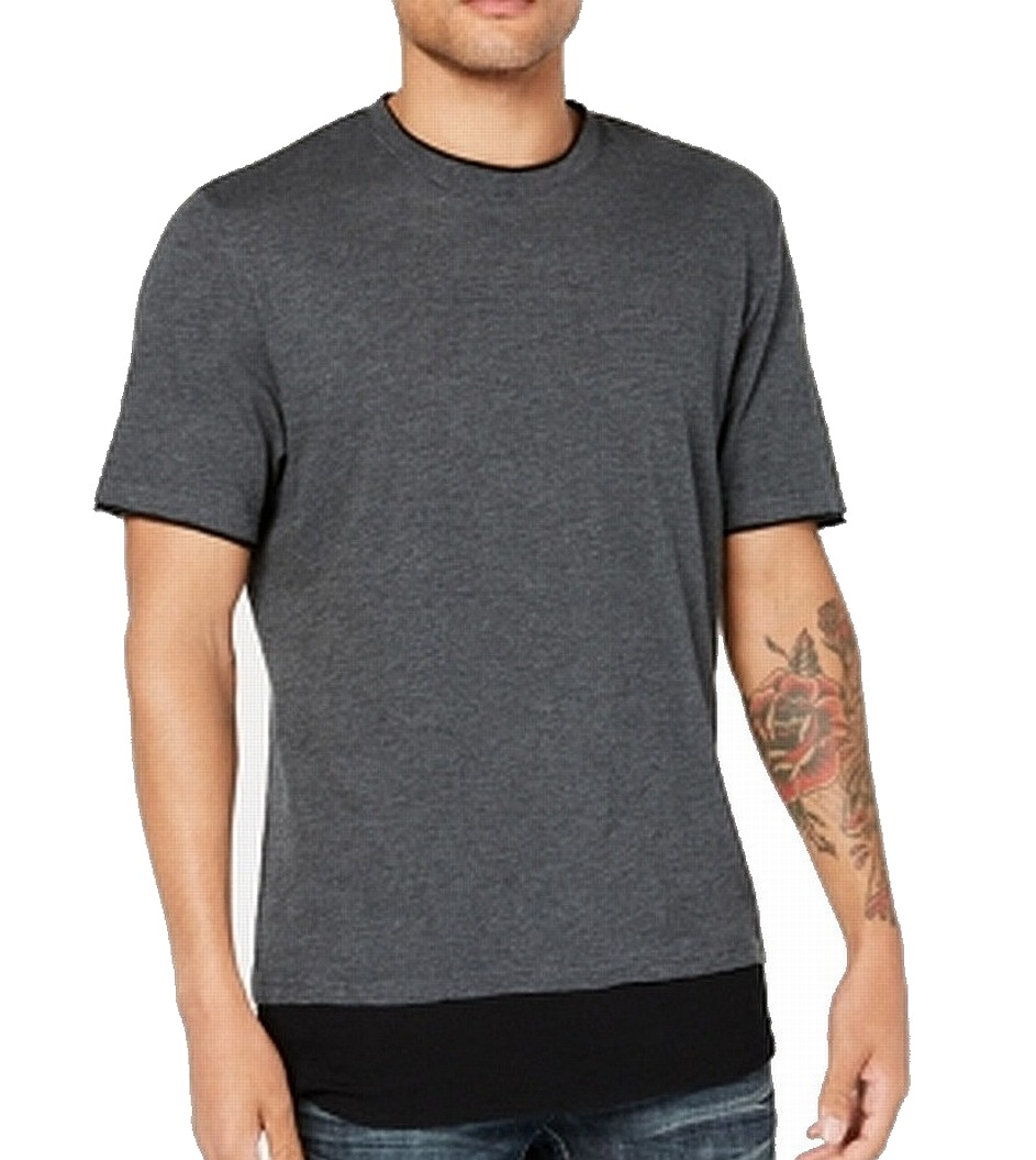 INC-NEW-Gray-Mens-Size-Large-L-Colorblock-Layered-Look-Tee-T-Shirt