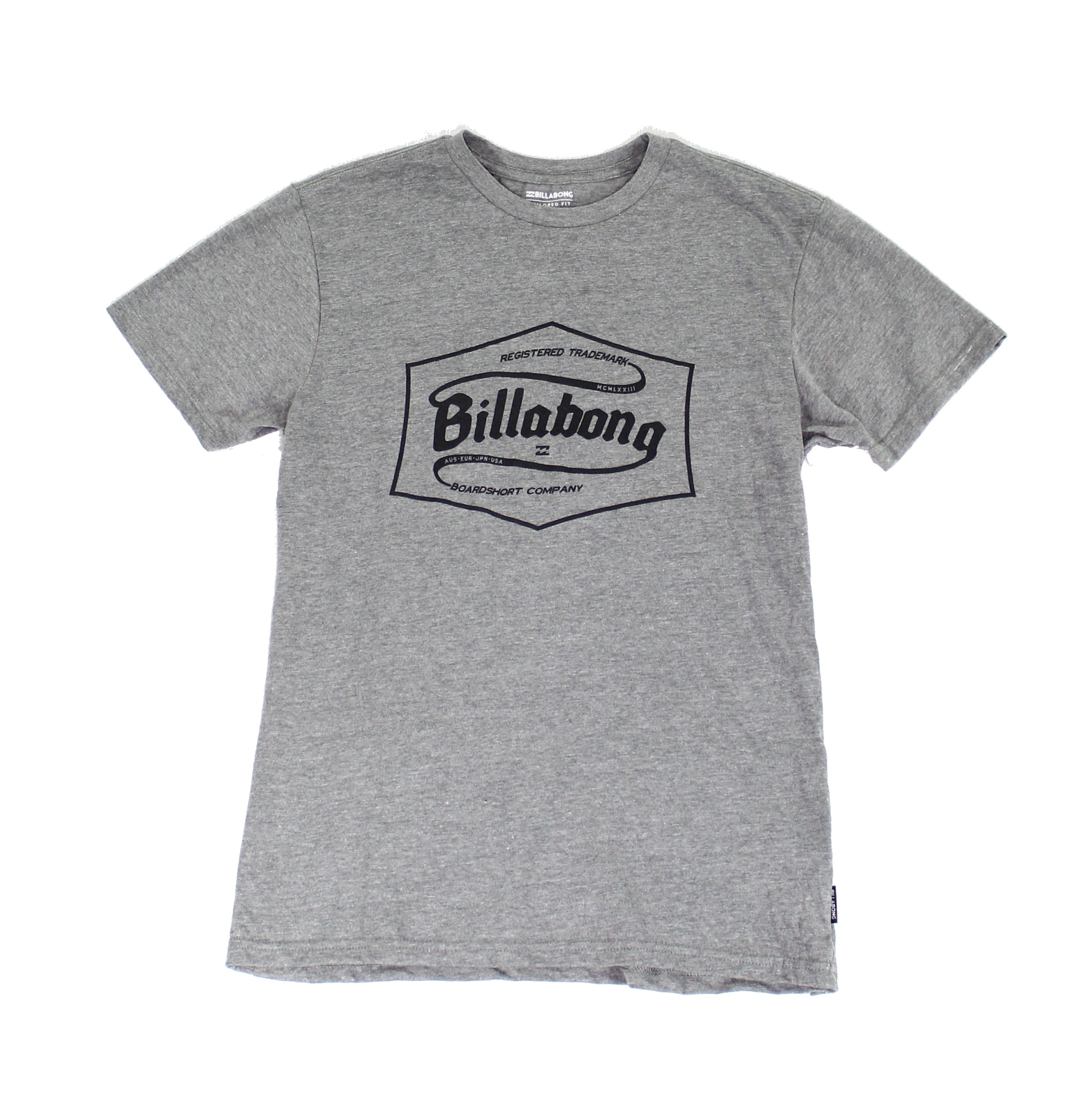 Billabong-NEW-Gray-Mens-Size-Small-S-Tailored-Fit-Graphic-Tee-T-Shirt-24-166